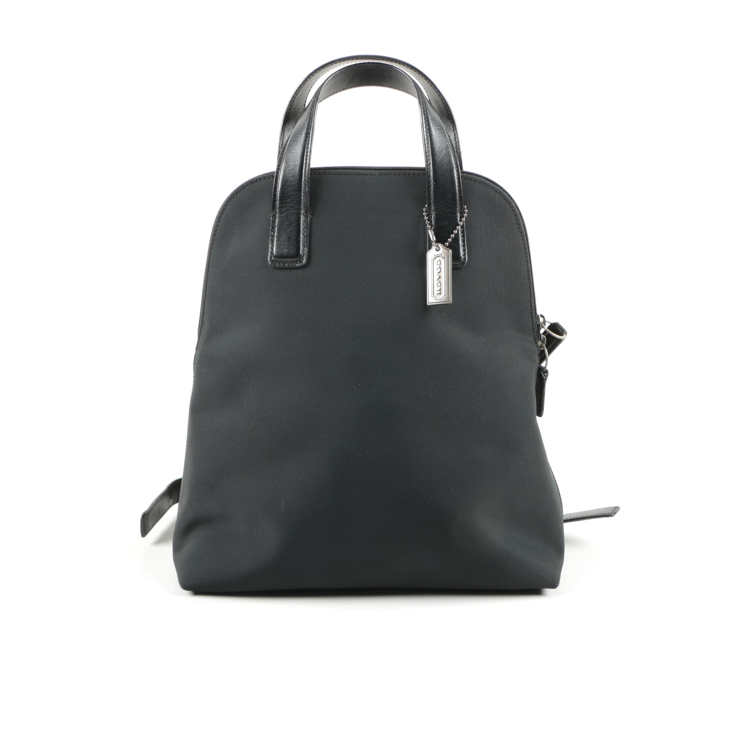 Vintage Coach Black Canvas Backpack