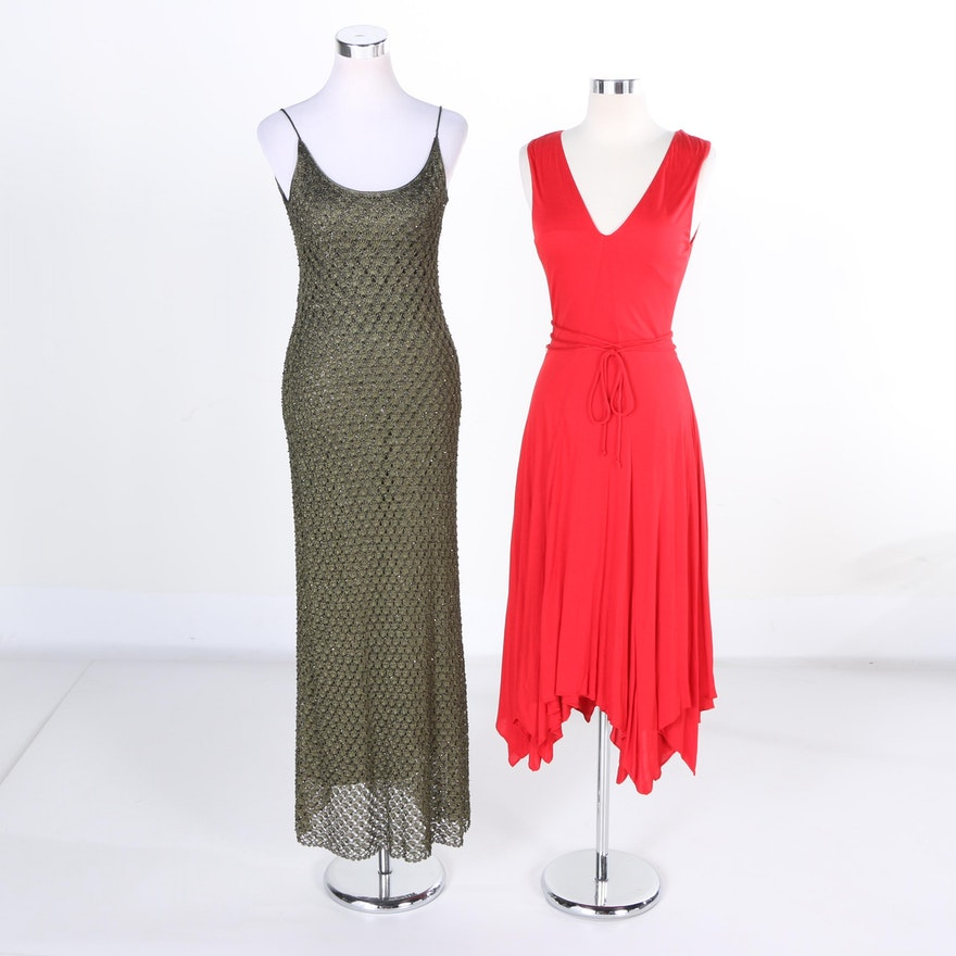 Evening Dresses by Carmen Marc Valvo and Lauren Ralph Lauren : EBTH