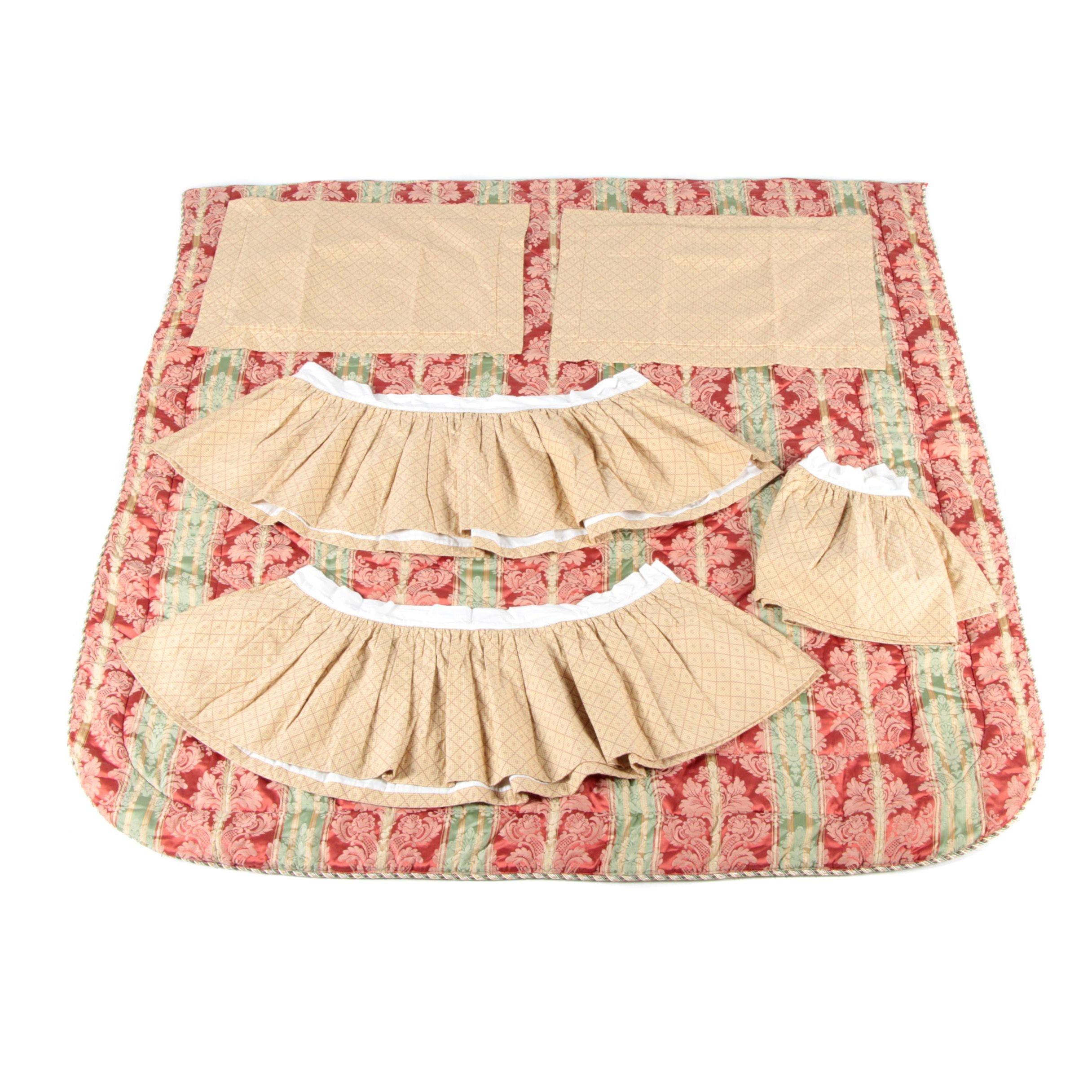 Custom Made Damask Bedding Set