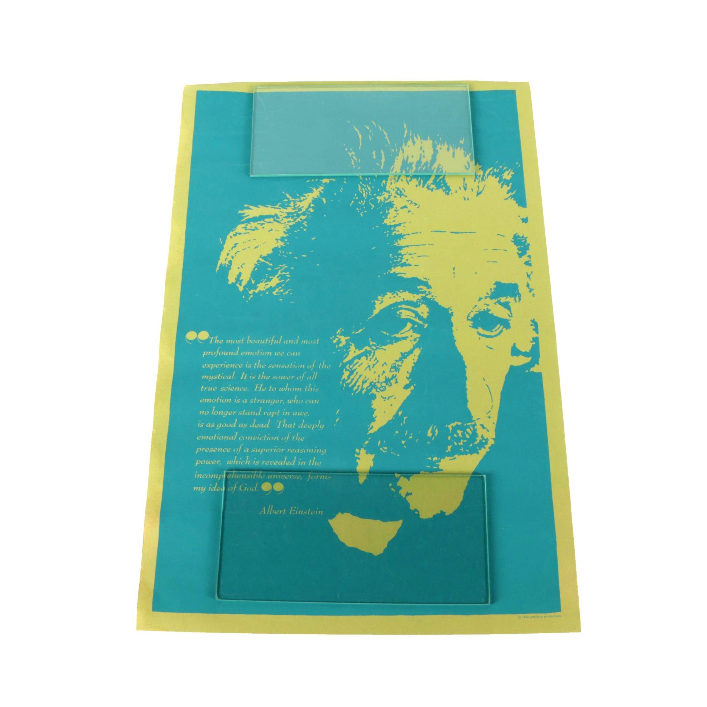 1966 Pandora Productions Albert Einstein Serigraph Poster