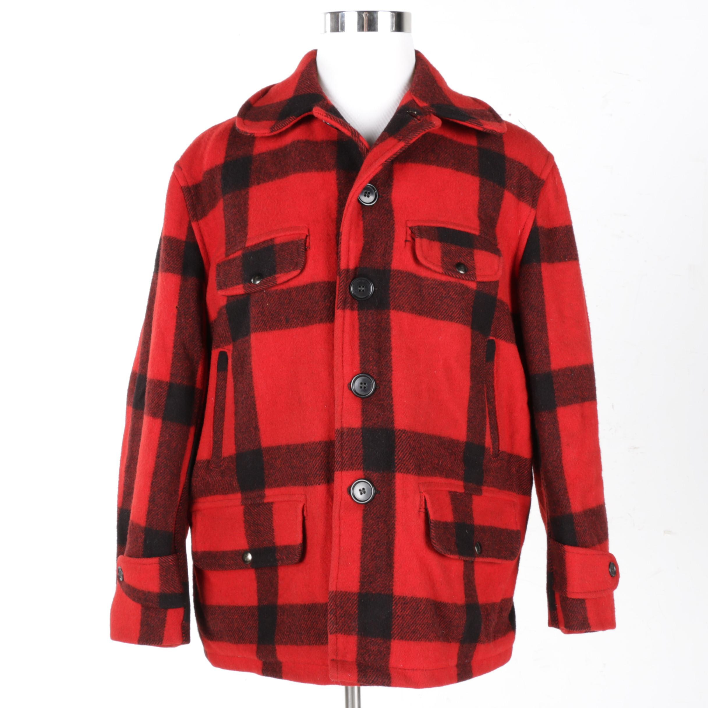 Men's Carter's Plaid Wool Coat