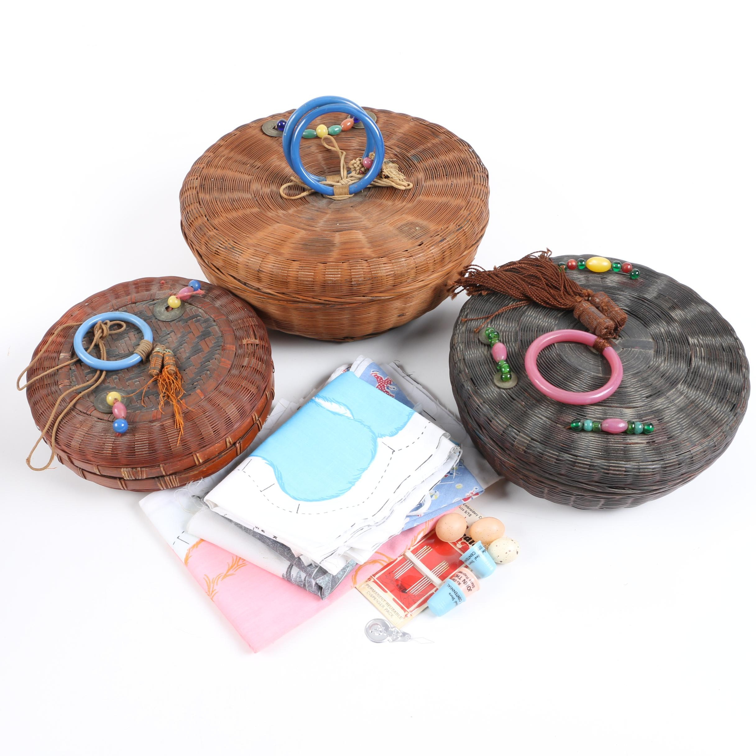 Decorative Lidded and Woven Baskets