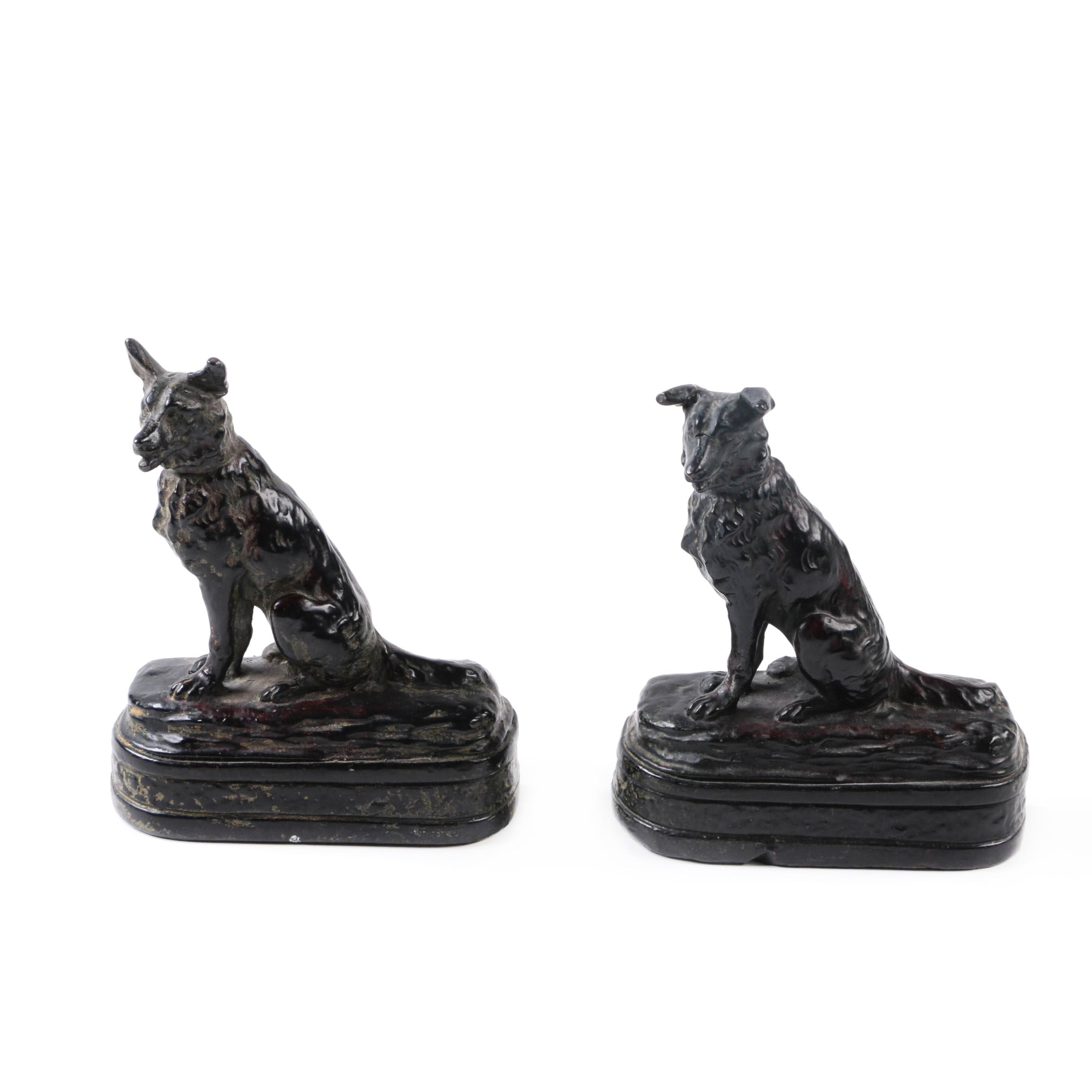 Metal Figural Dog Bookends
