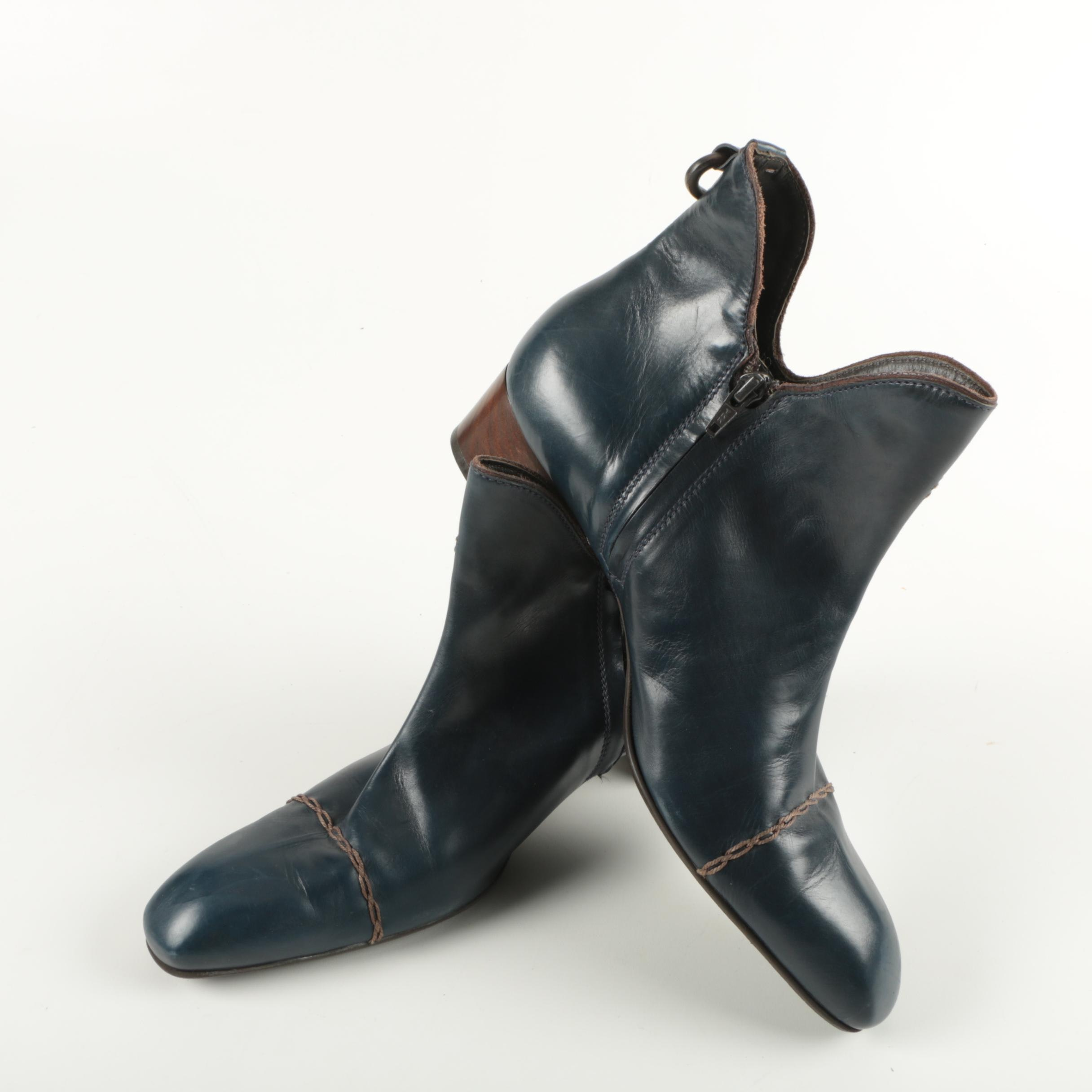 Henry Beguelin Blue Leather Boots