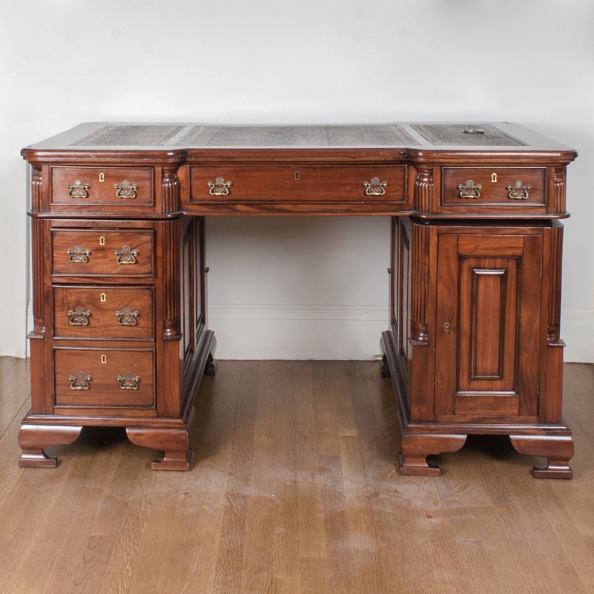 Mahogany Partners Desk from Victoria Collections