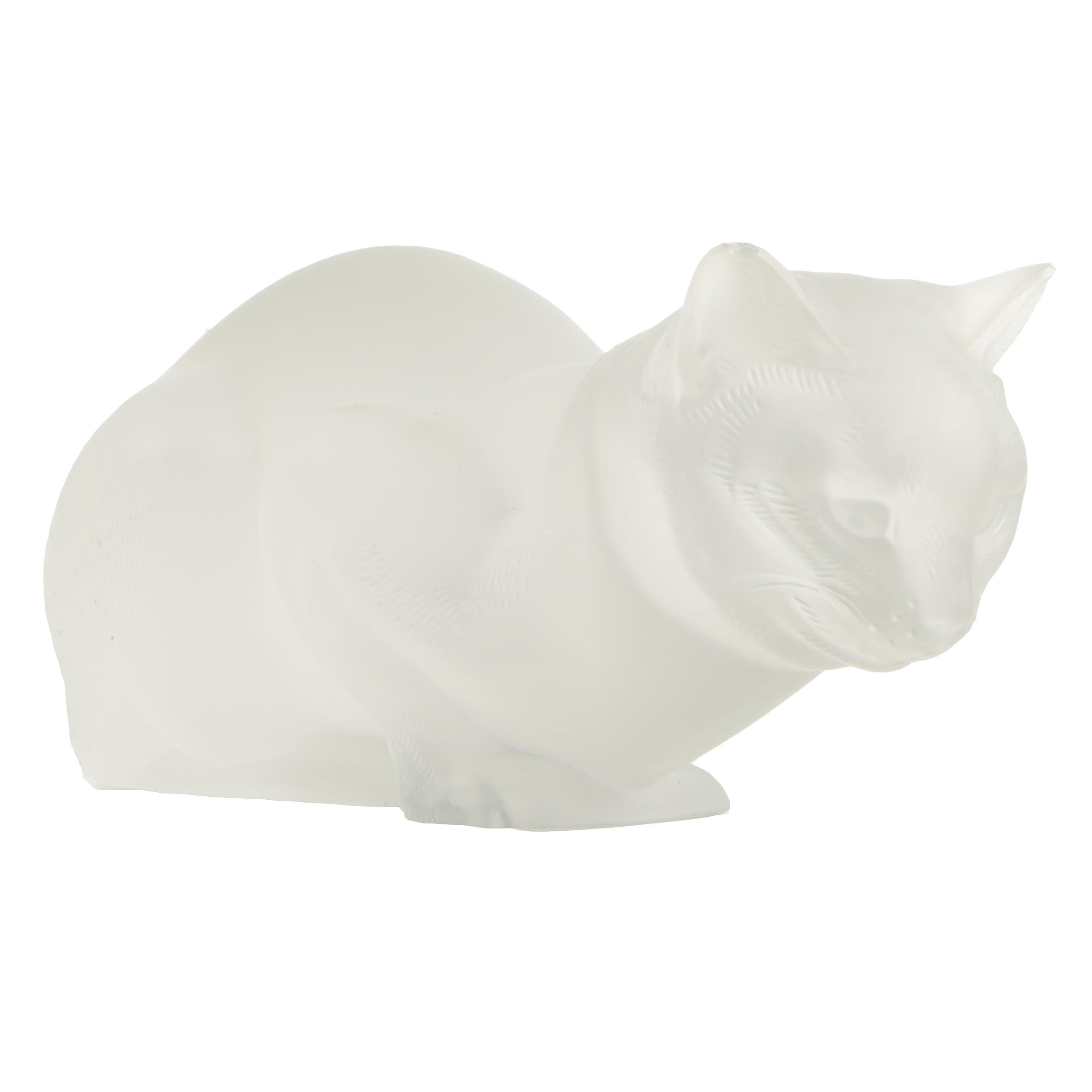 Lalique Crystal Cat Figurine