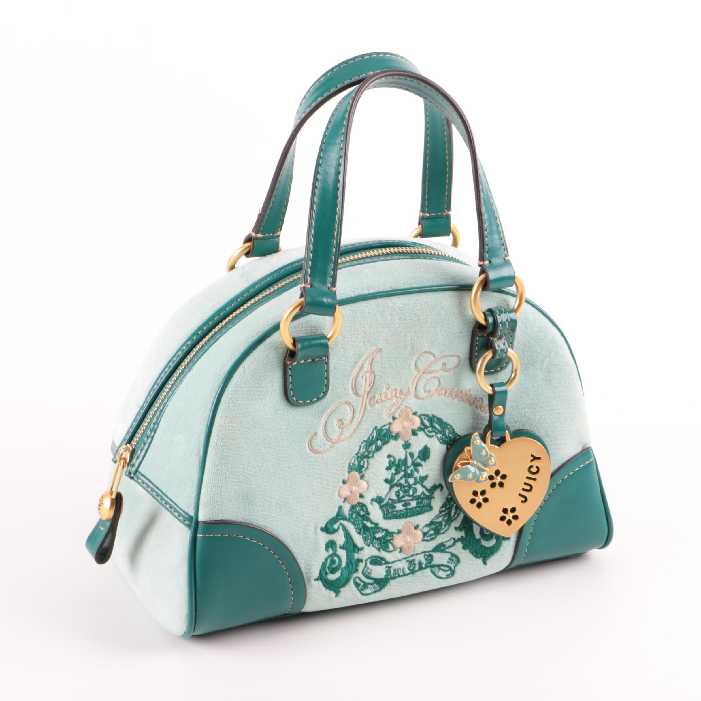 Juicy Couture Leather and Fabric Handbag