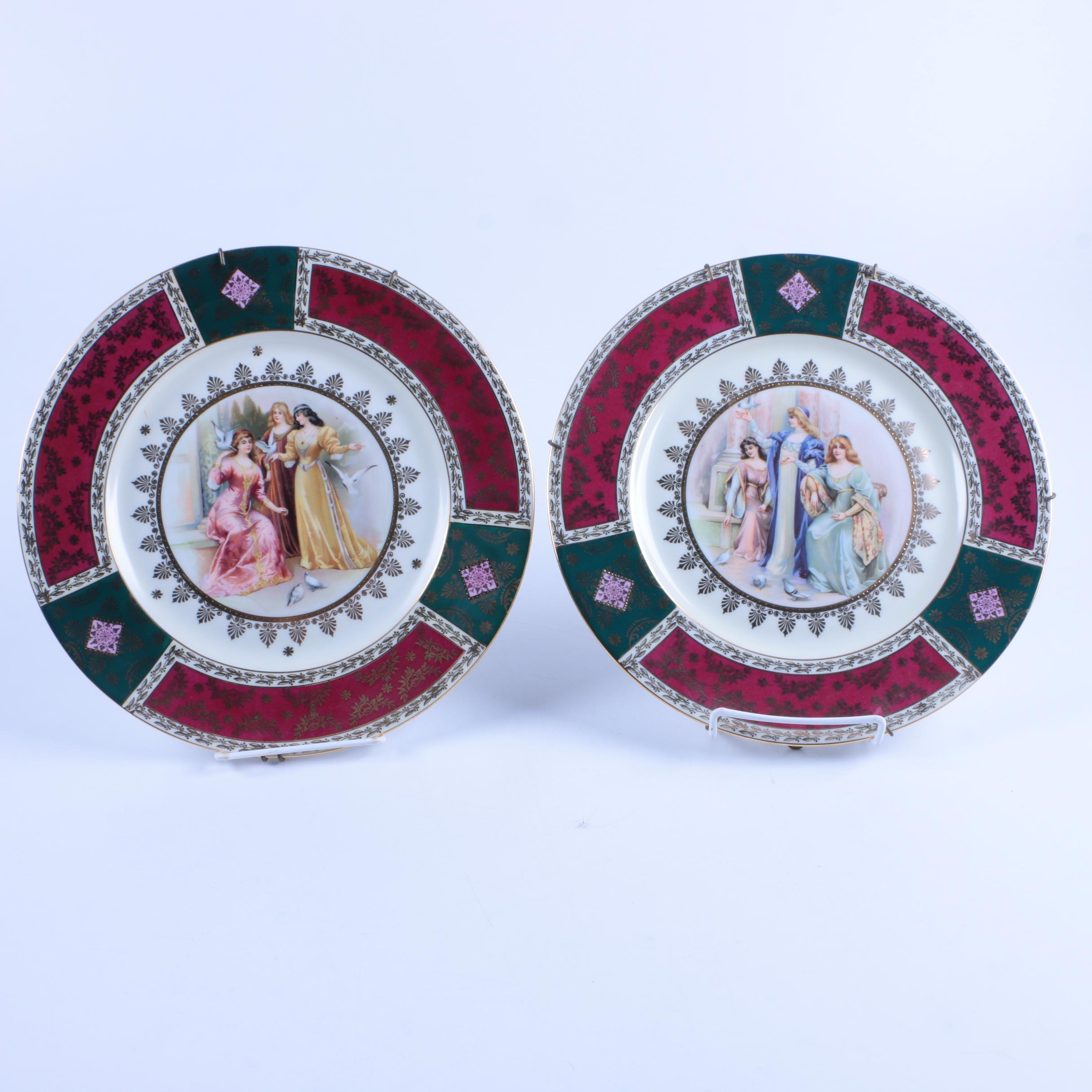 Vintage Royal Vienna Style Decorative Plates