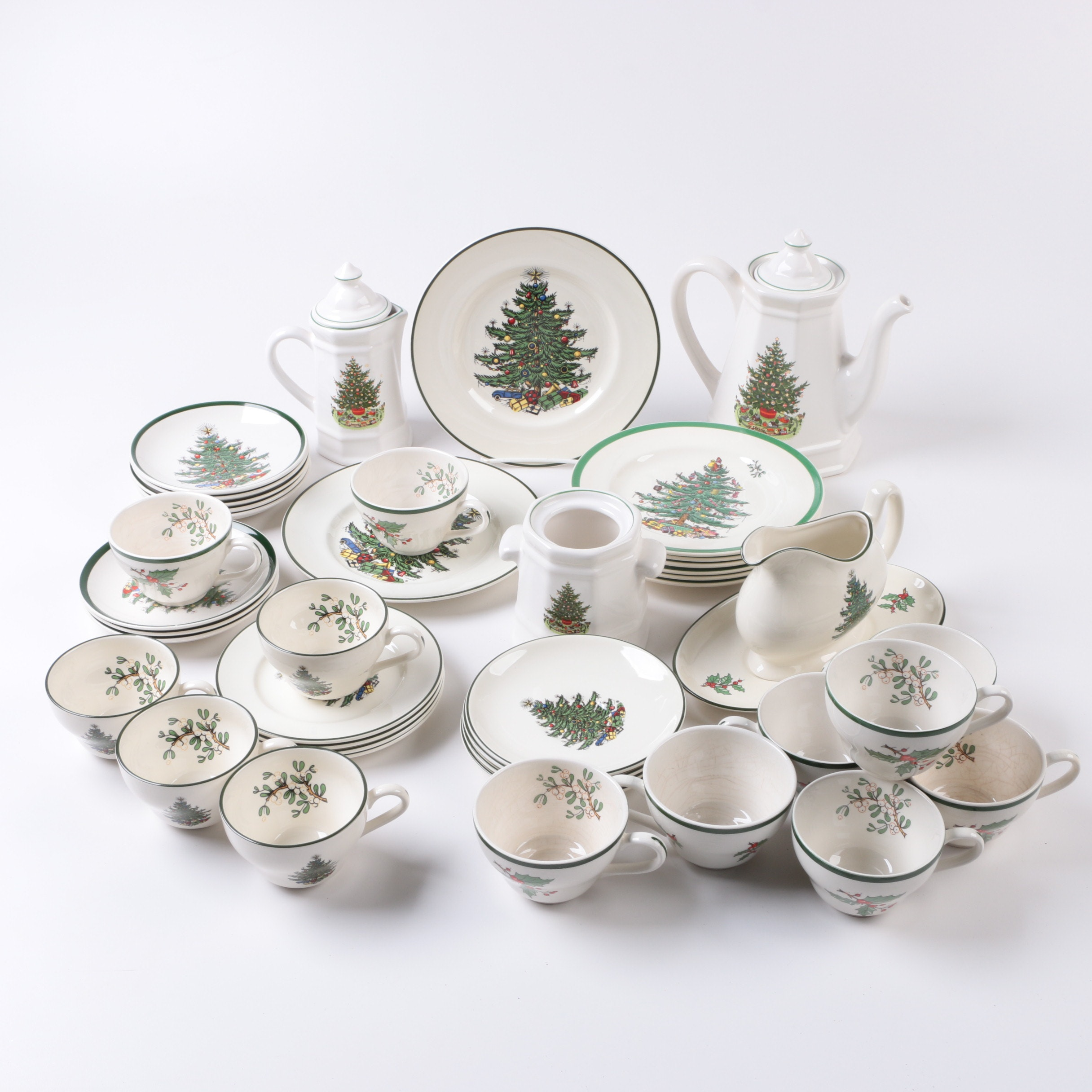 "Cuthbertson ""Original Christmas Tree"" and Spode ""Christmas Tree"" Tableware"