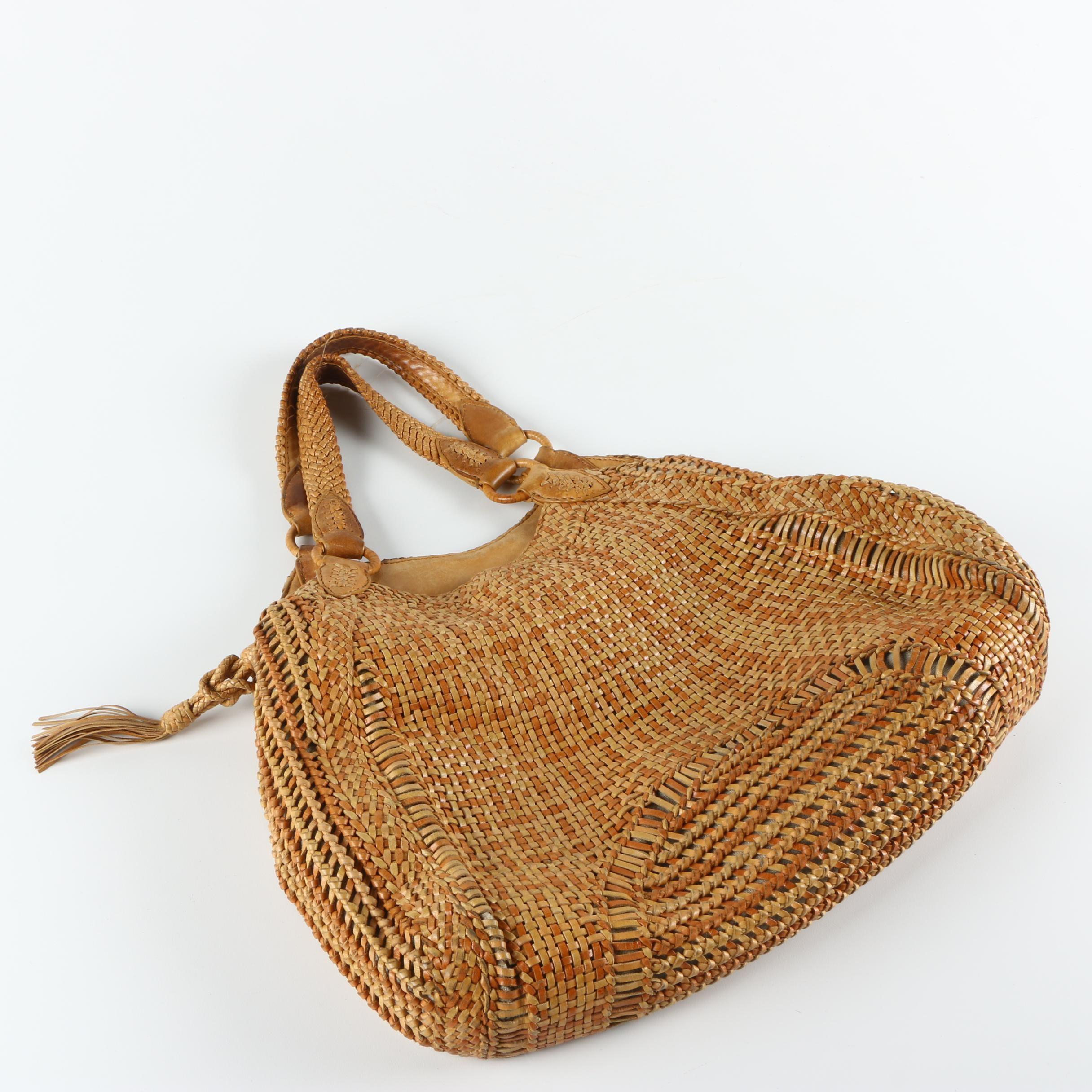 Cole Haan Woven Leather Handbag
