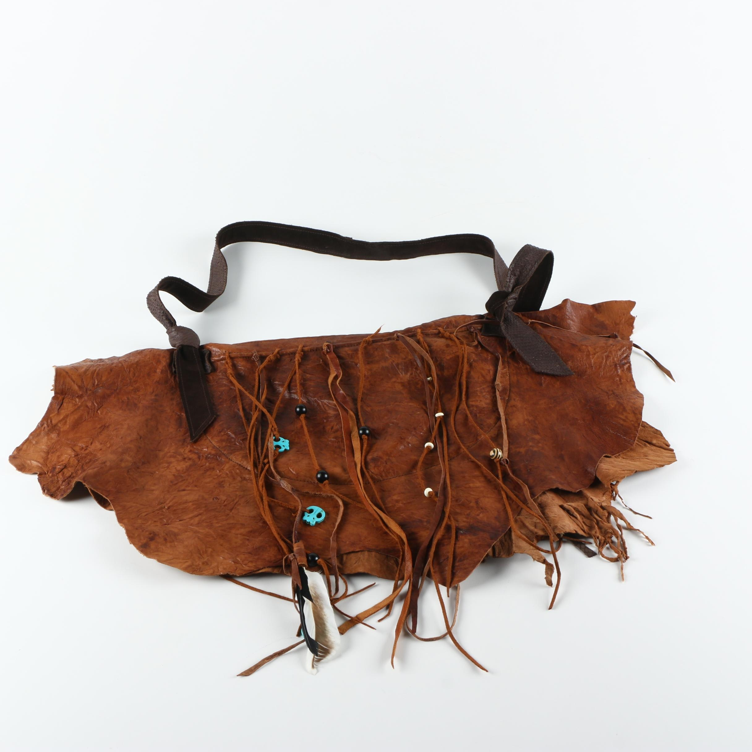 Phillip and Lillian by Allison Burns Leather Hide Handbag