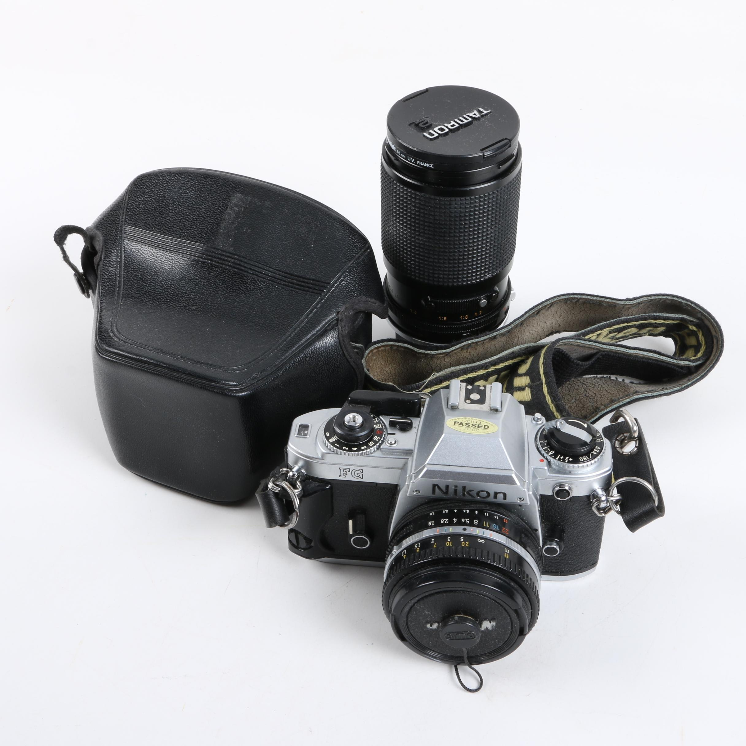 Nikon FG SLR Camera with Two Lenses
