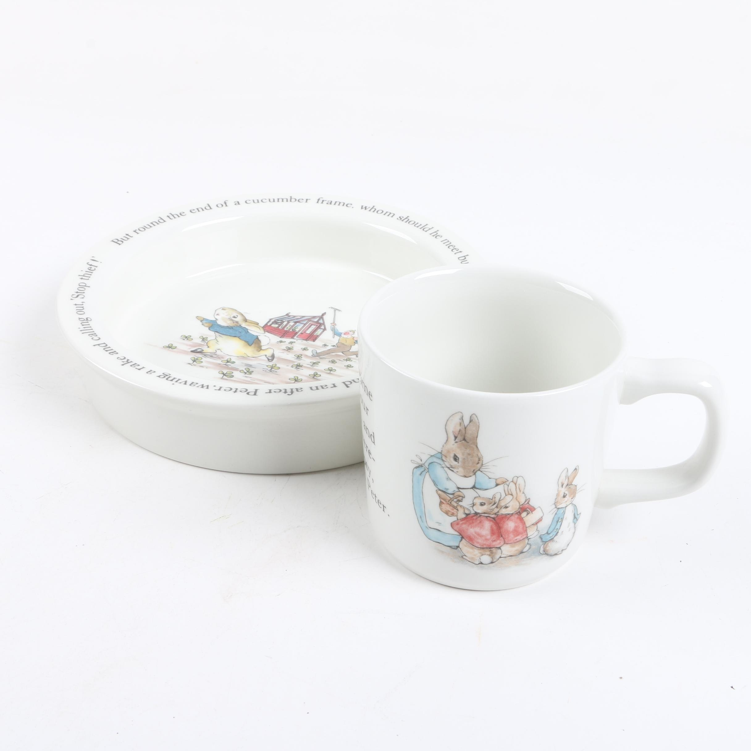 "Wedgwood ""Peter Rabbit"" Mug and Bowl"