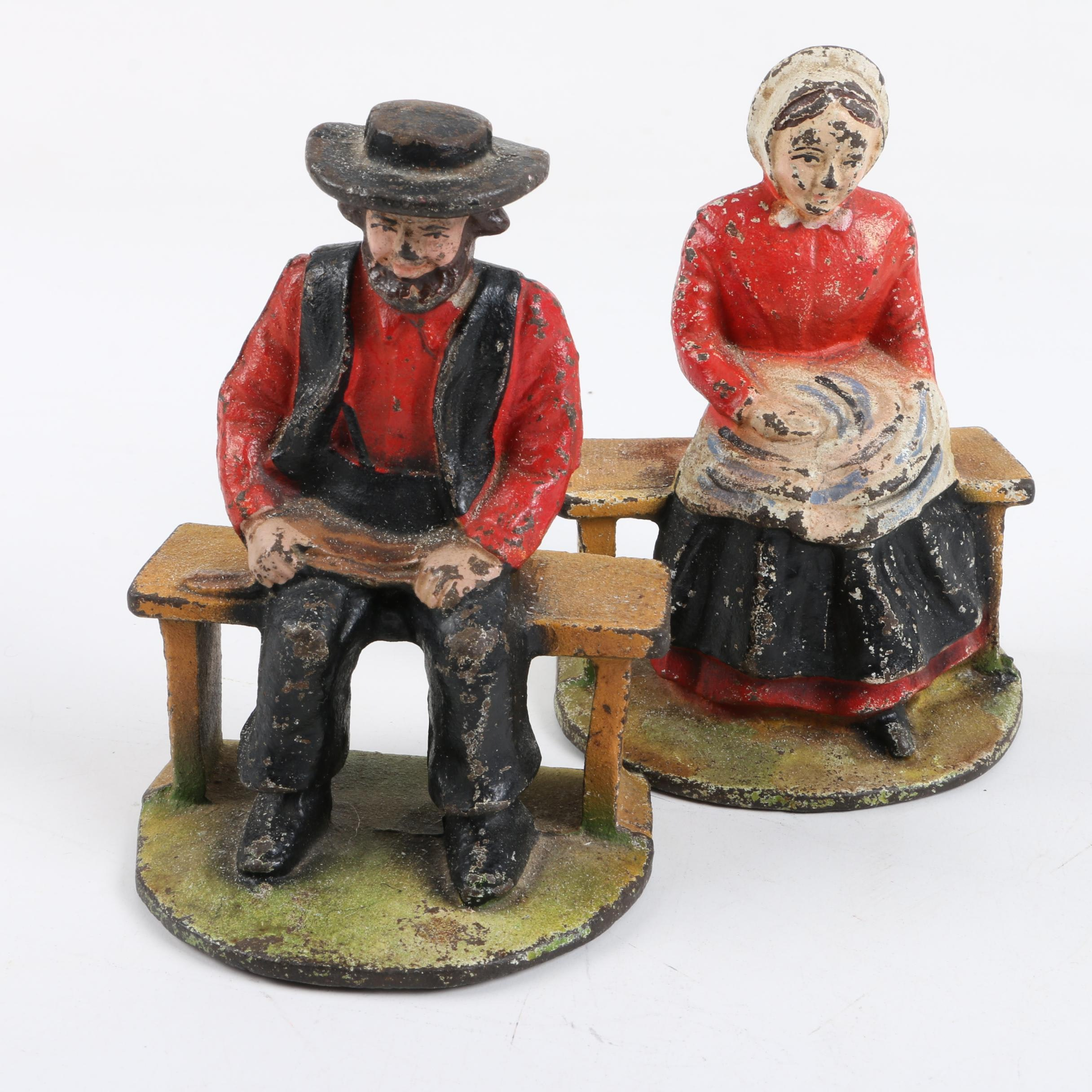 Amish Themed Metal Bookends
