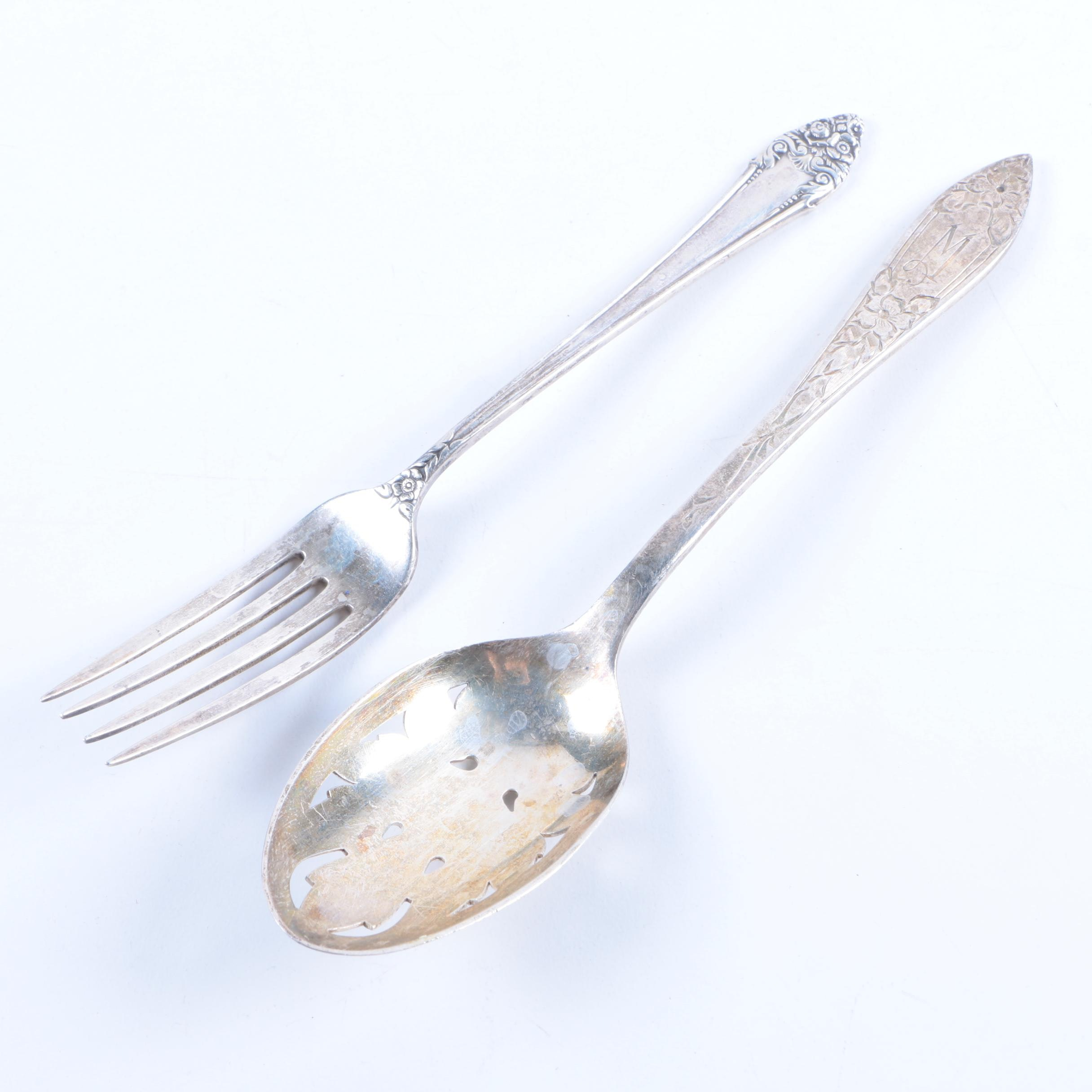 """The Stieff Co. """"Lady Claire"""" and Reed & Barton """"Fragrance"""" Sterling Flatware"""