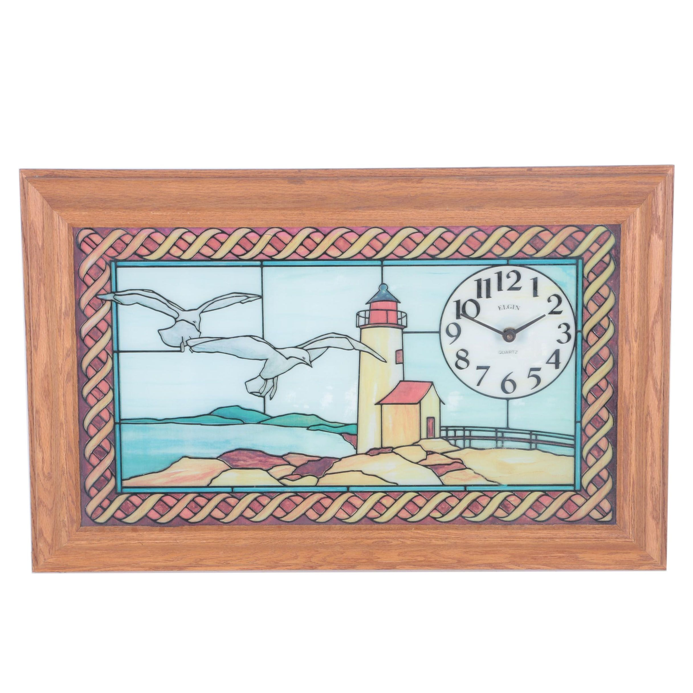 Elgin Quartz Pictorial Wall Clock