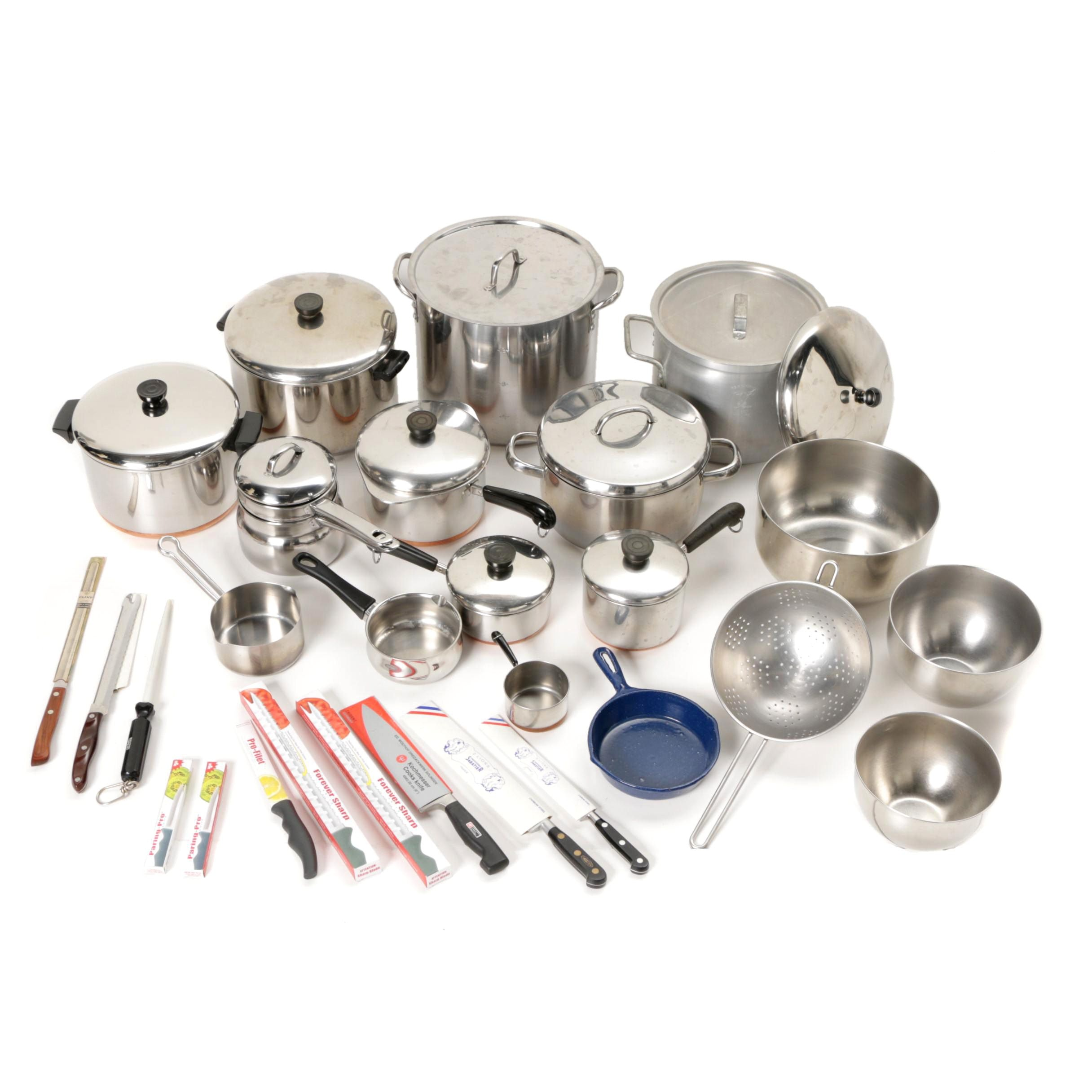 Stainless Steel Cookware and Cutlery