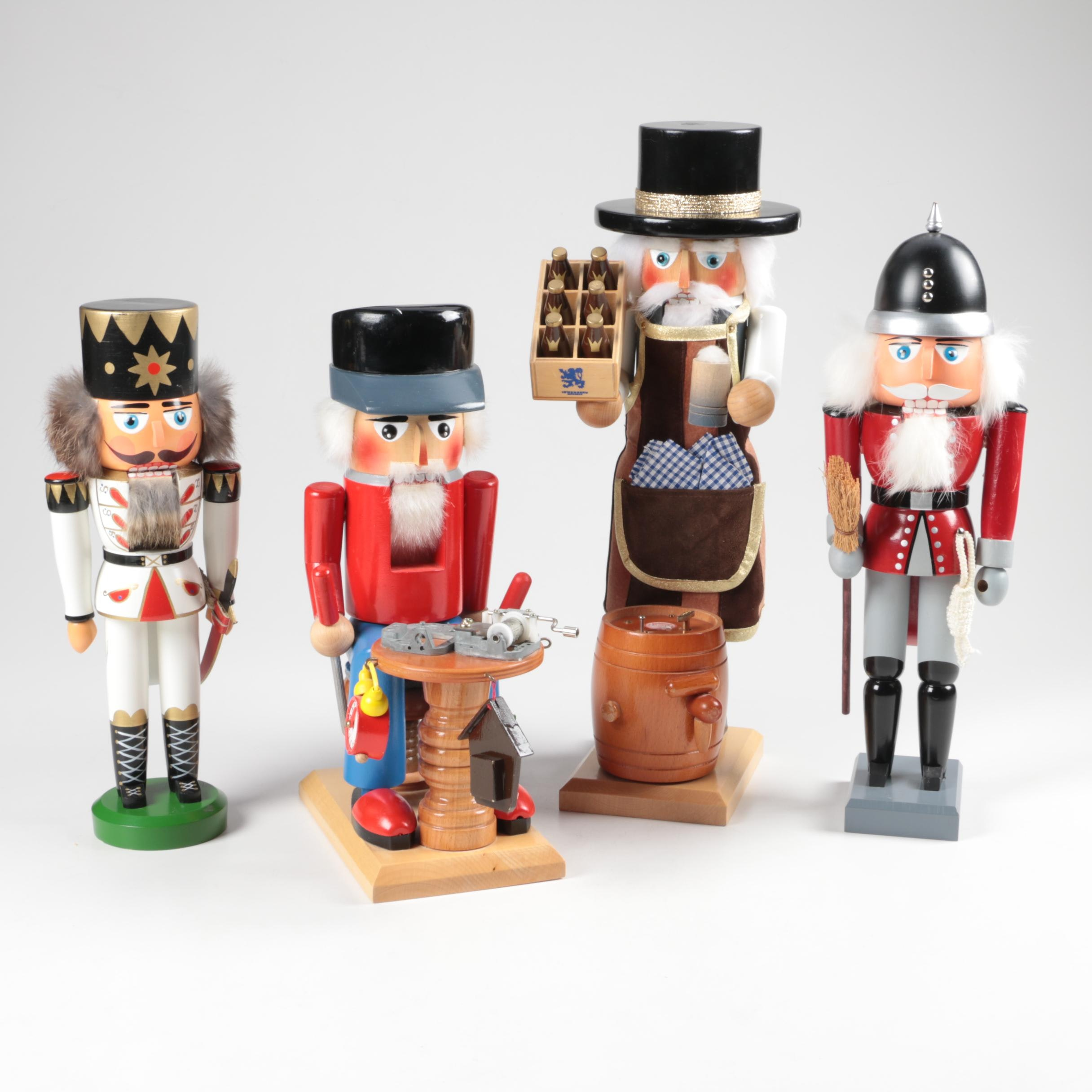 Wooden Holiday Nutcrackers including Steinbach