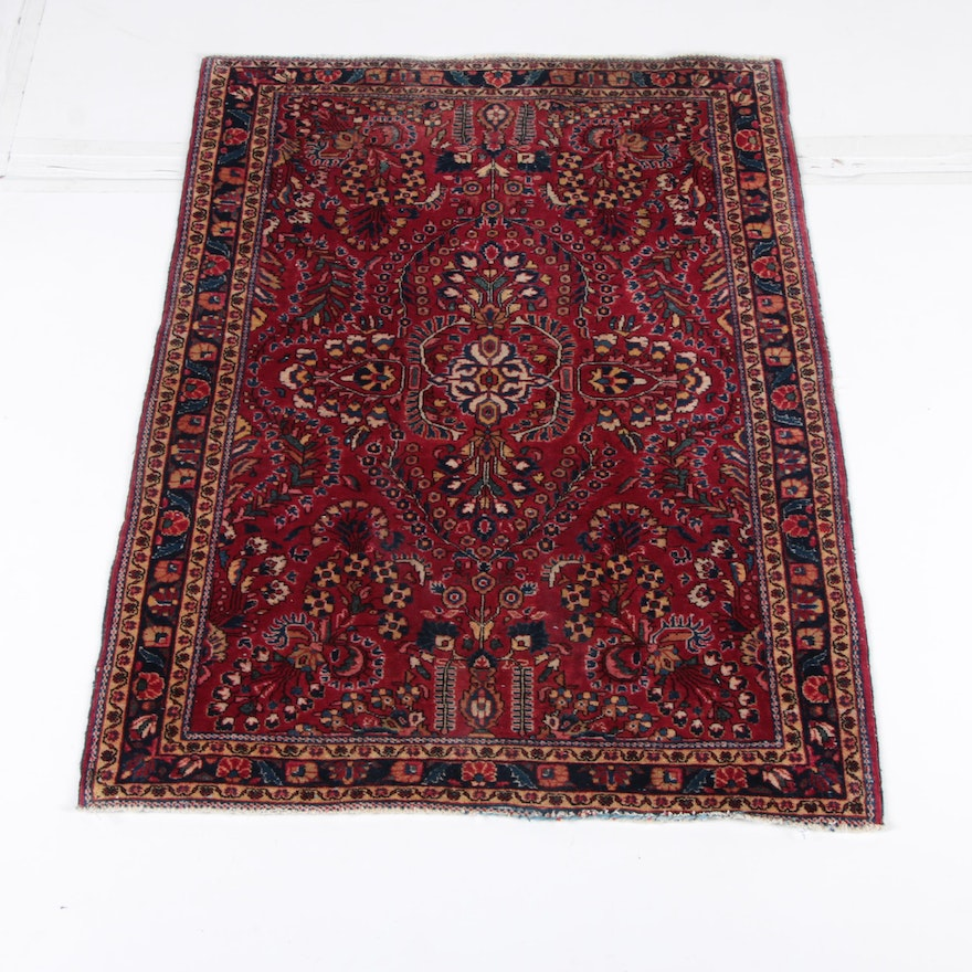 Hand Knotted Persian Wool Area Rug Ebth: Hand-Knotted Persian Mehriban Area Rug : EBTH