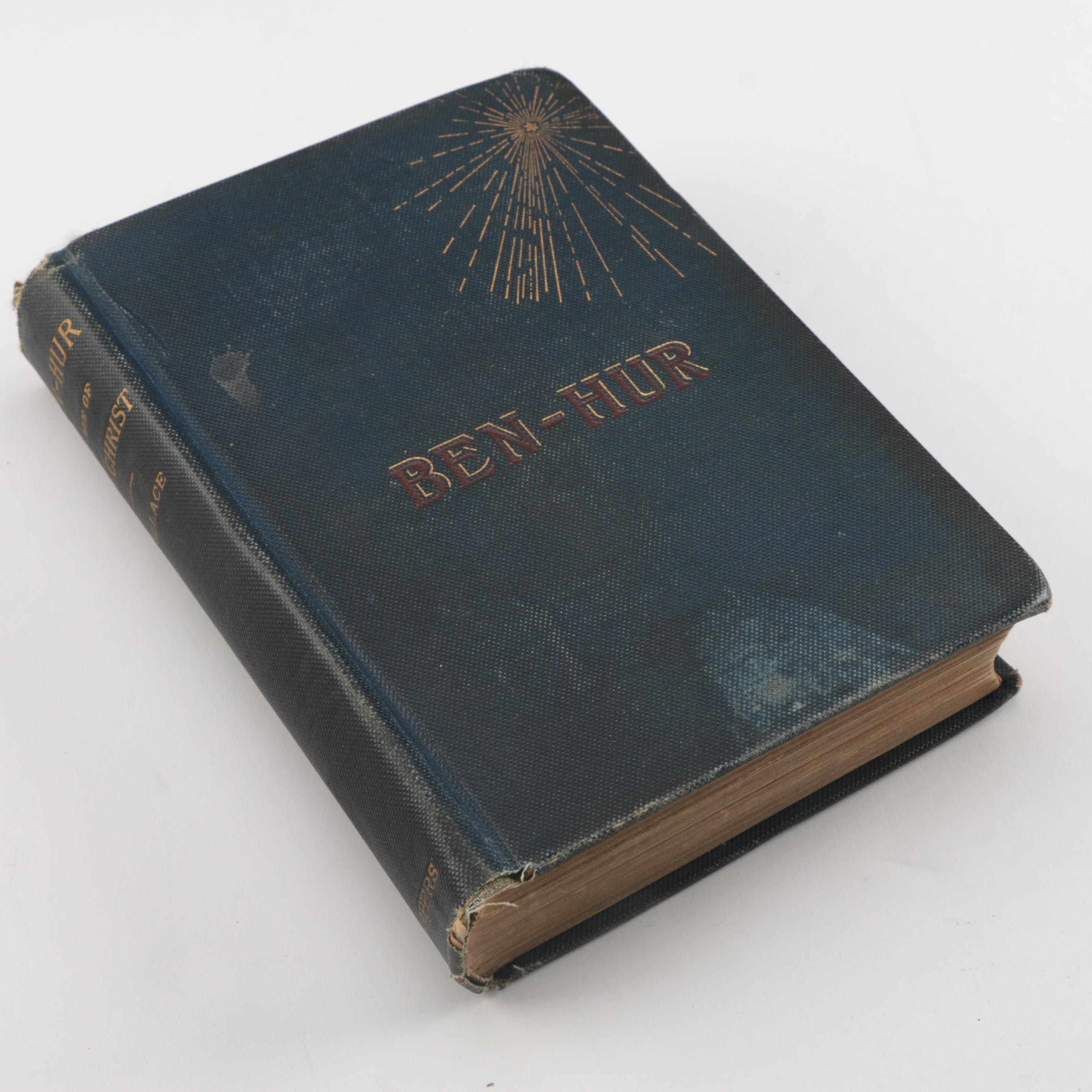 """First Edition, Late Printing of """"Ben-Hur: A Tale of the Christ"""" by Lew Wallace"""