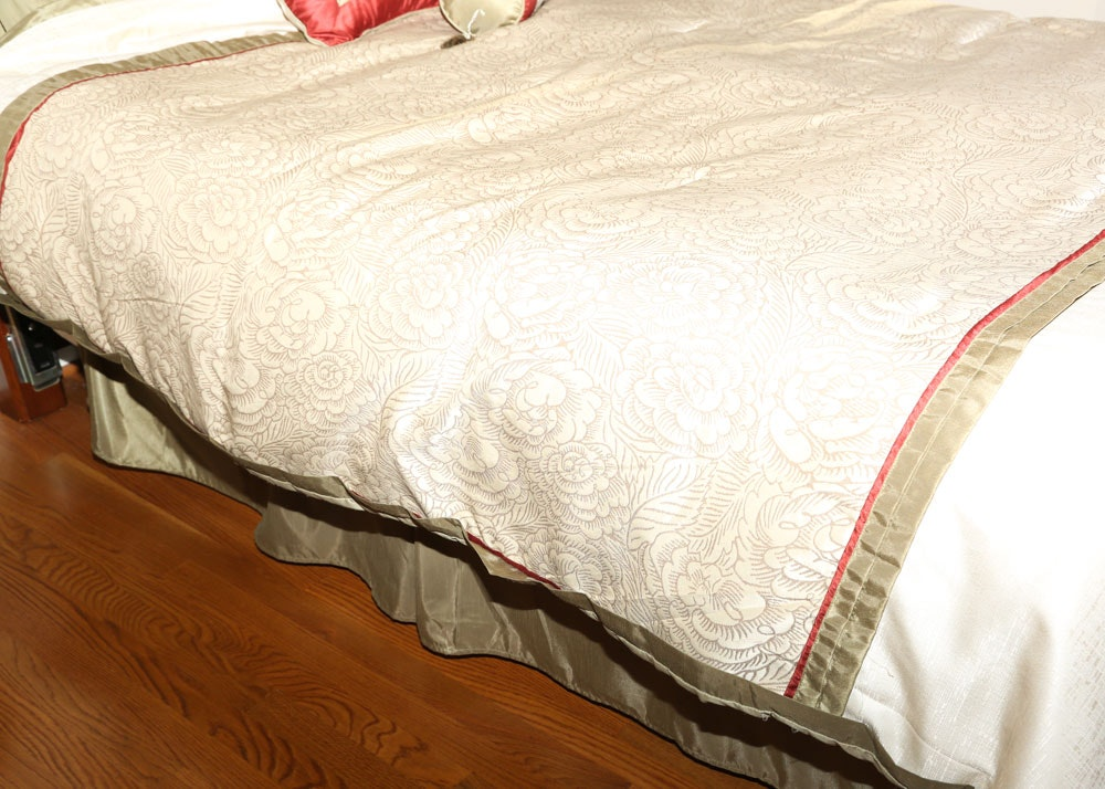 Queen Size Headboard and Mechanical Bed Frame   EBTH