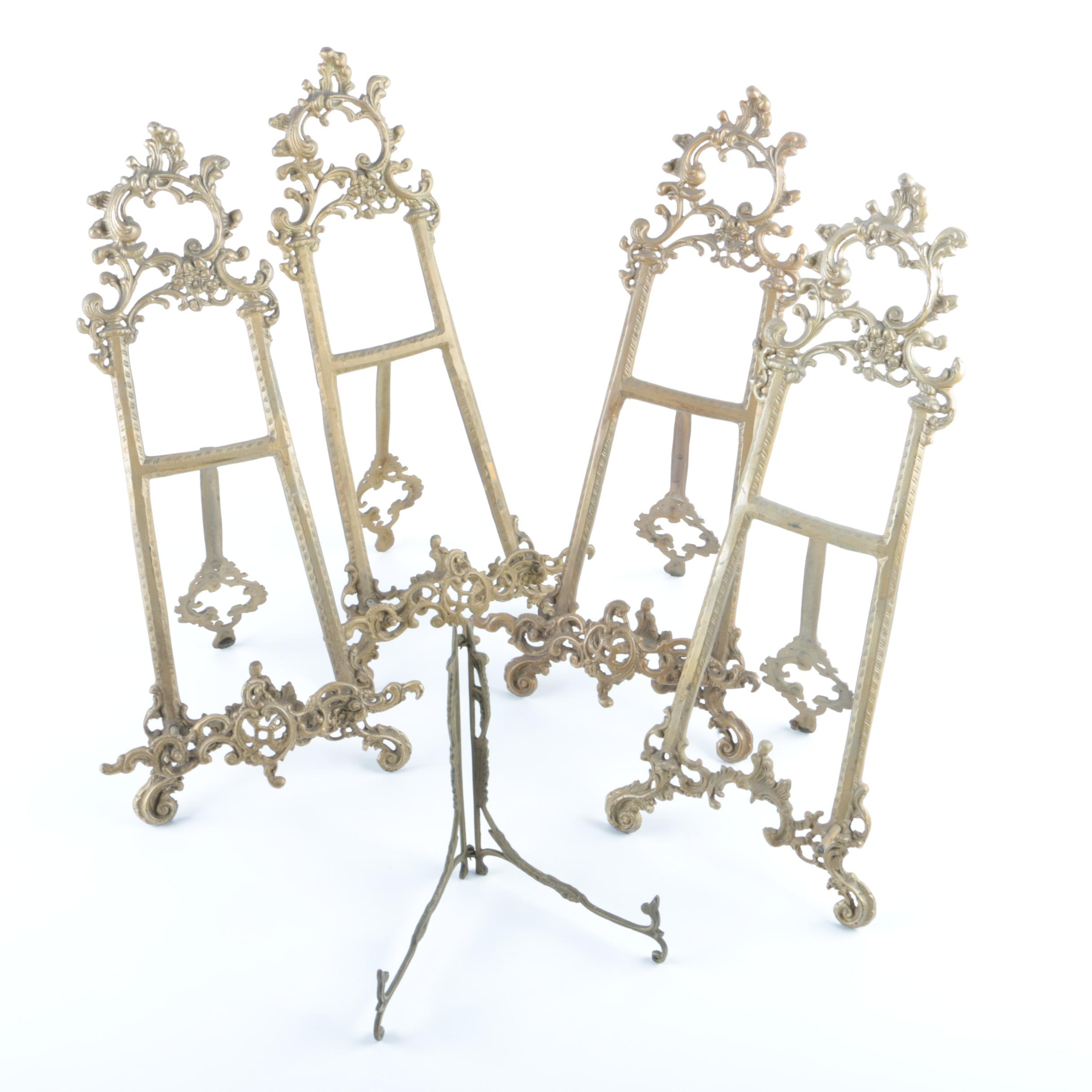 Brass Picture Easels