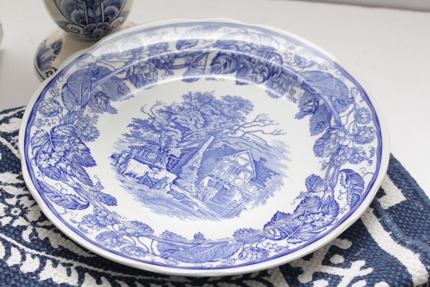 Spode blue and white home decor and more ebth - American history x dinner table scene ...