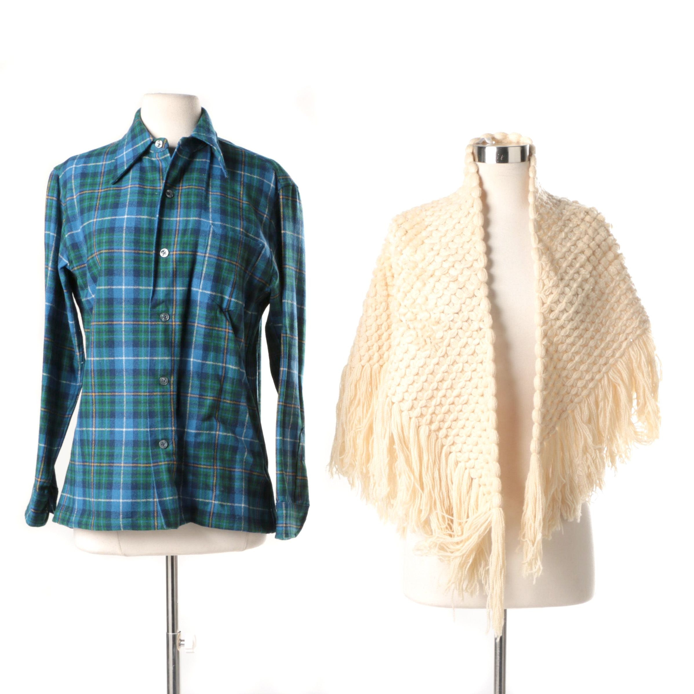 Knockabouts by Pendleton Flannel and Crocheted Shawl
