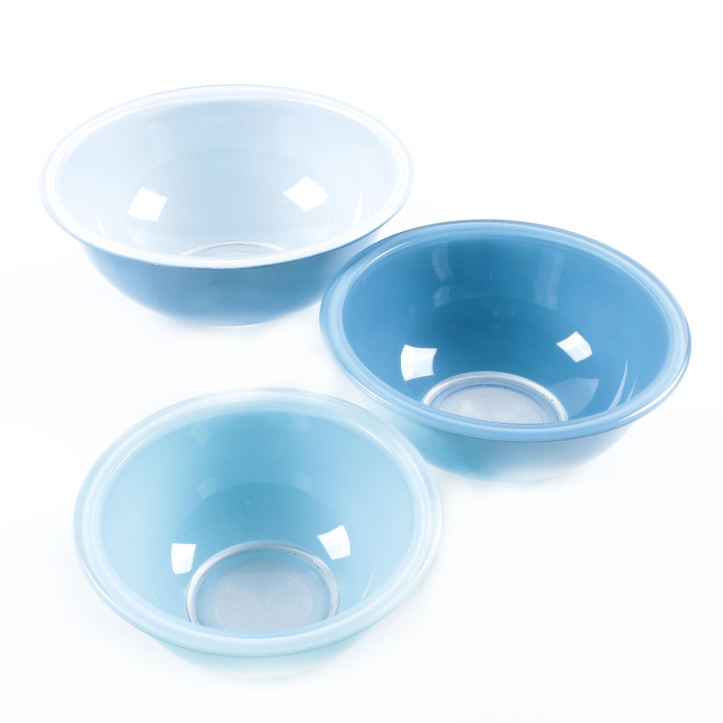 Vintage Pyrex Blue Nesting Bowls 1980s