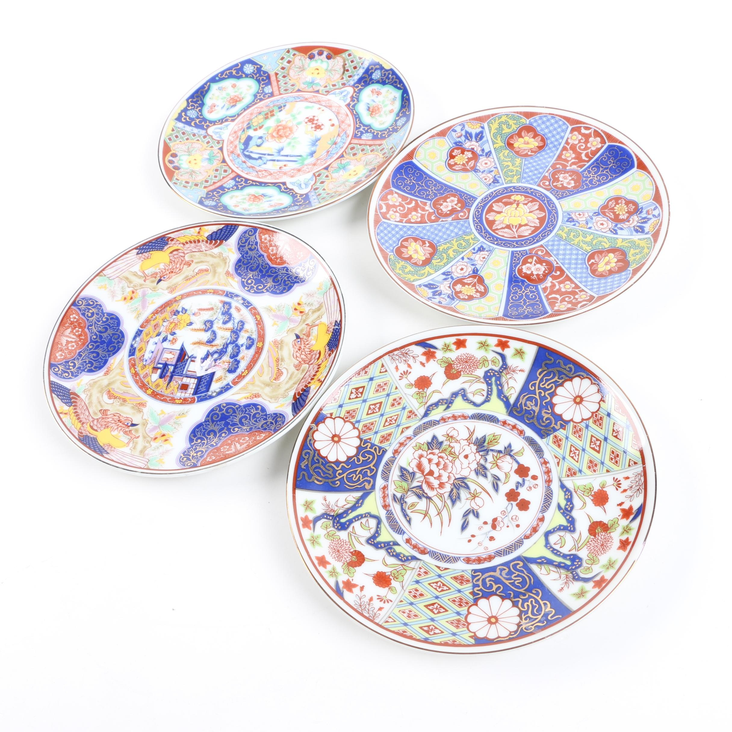 Set of Japanese Imari Ware Bread and Butter Plates