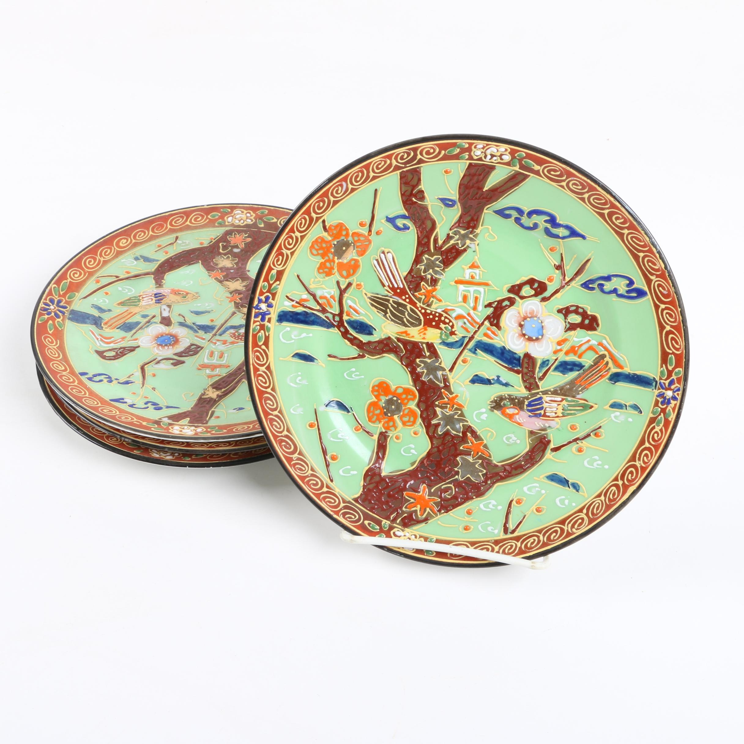 Vintage Takito Hand Painted Japanese Plates 1922-44