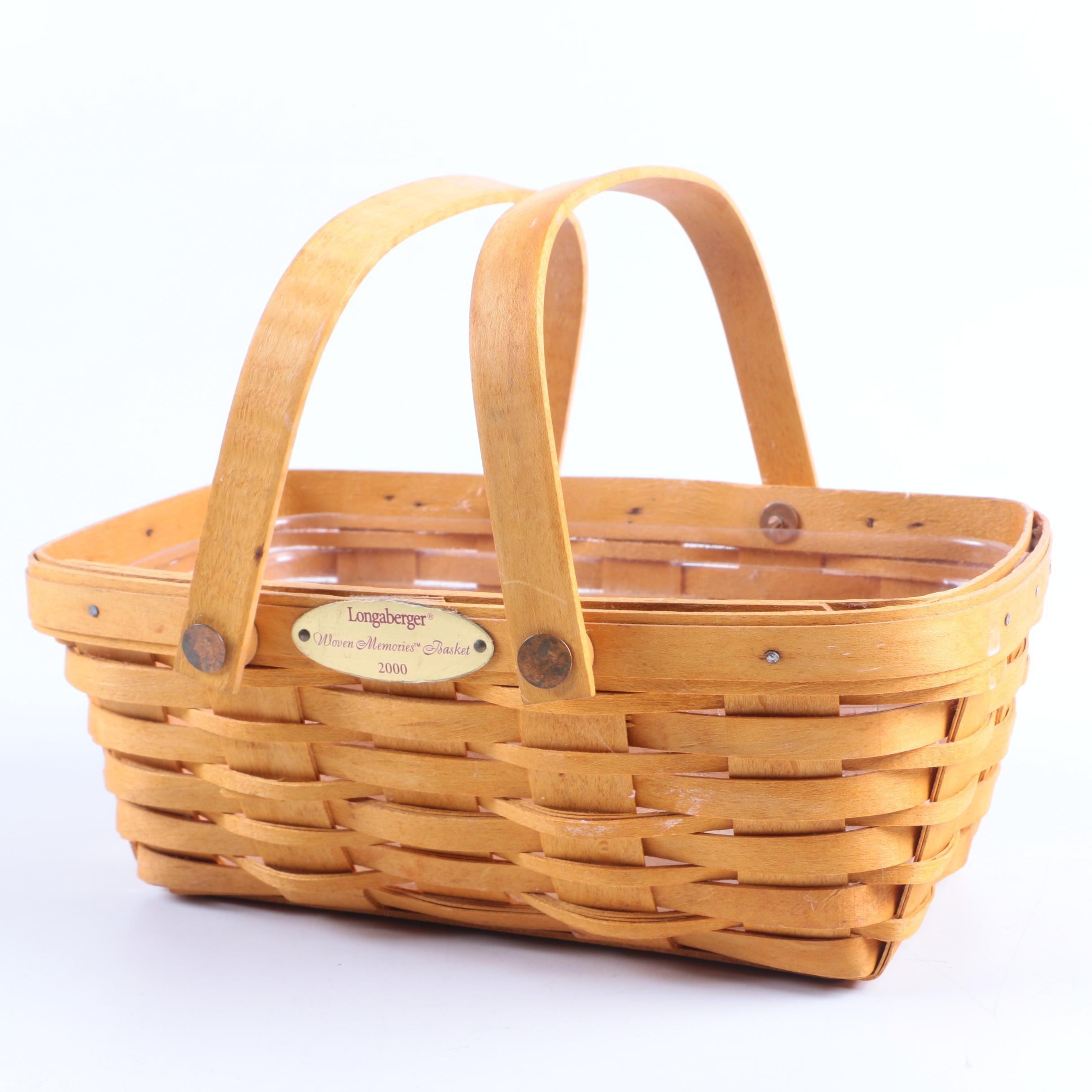 """Longaberger """"Woven Memories 2000"""" Basket"""