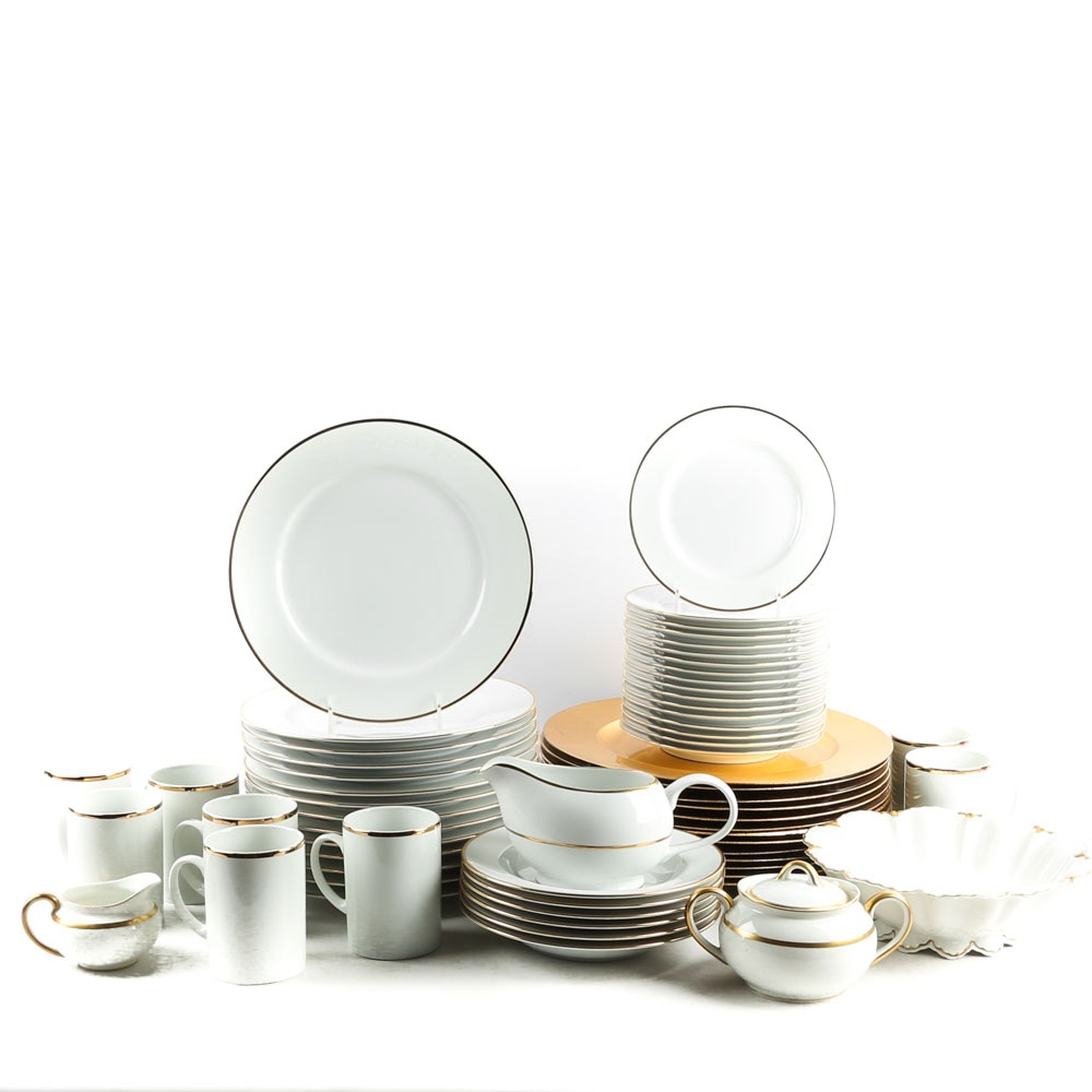 White China Tableware Featuring Marketplace
