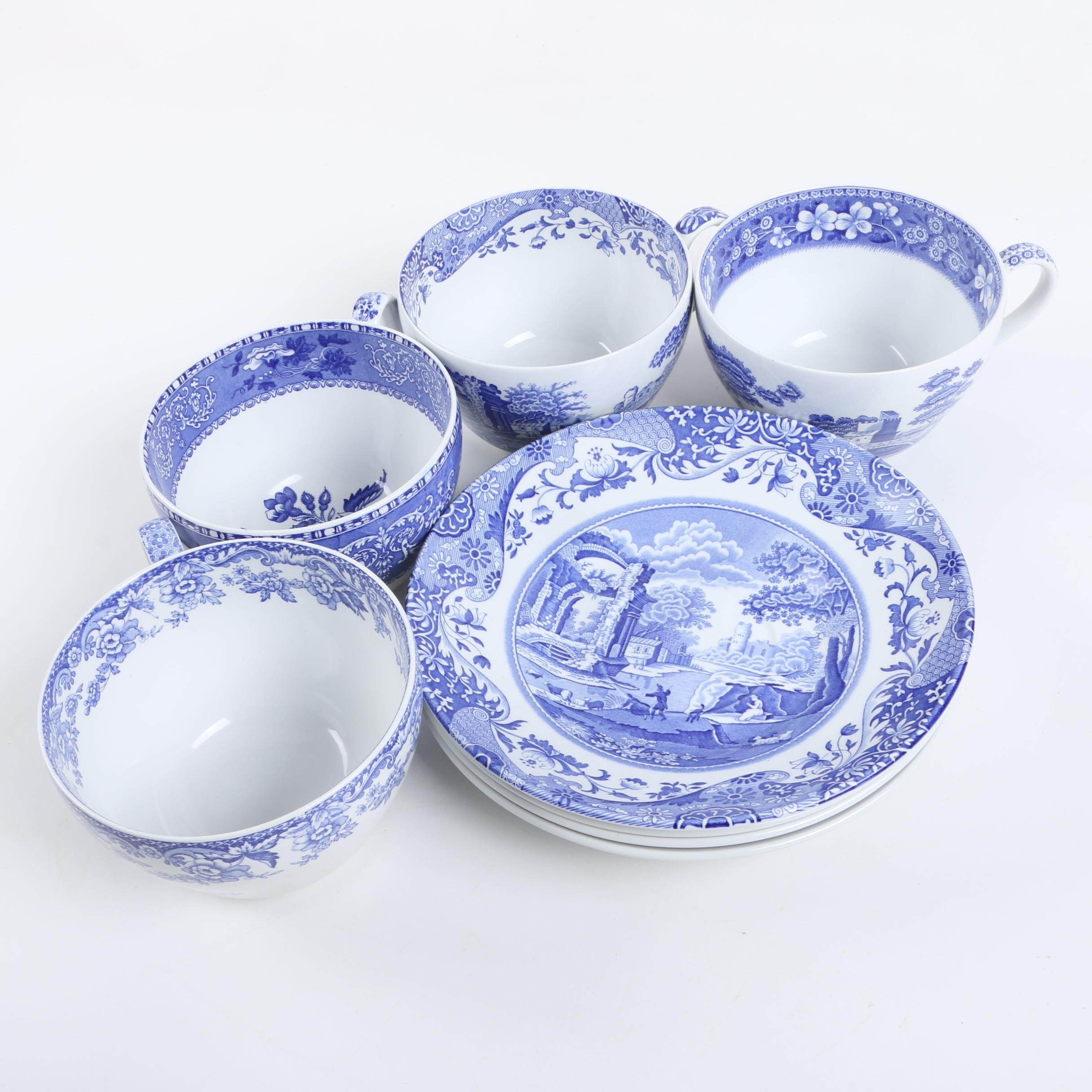 """Spode """"Blue Room Collection"""" Cups and Saucers"""