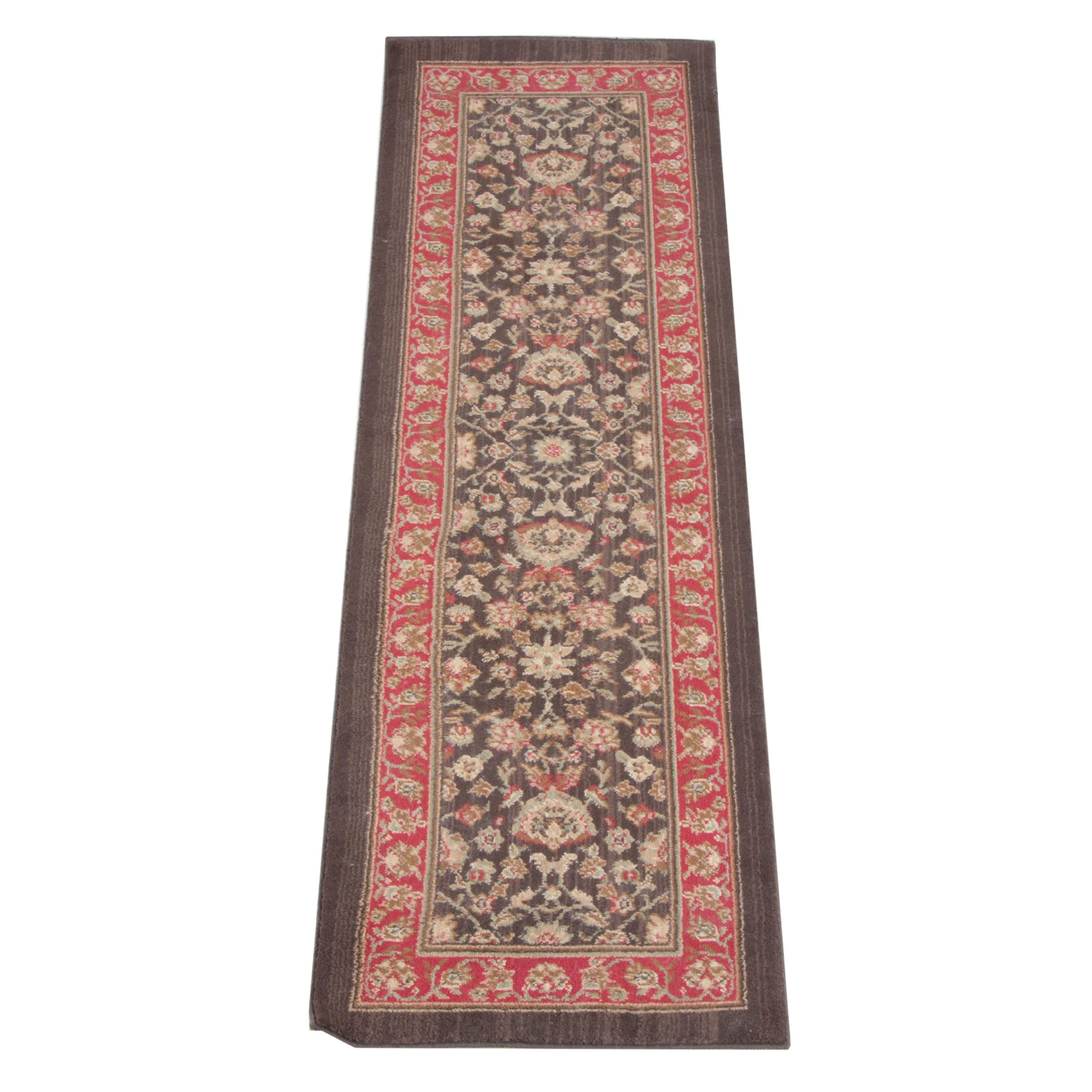 Power-Loomed Indo-Persian Style Wool Carpet Runner