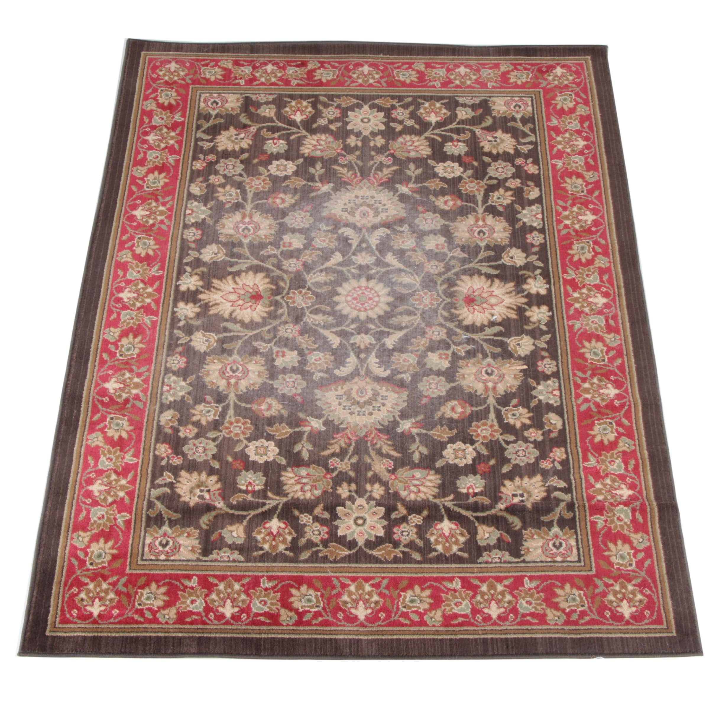 Power-Loomed Indo-Persian Style Wool Area Rug