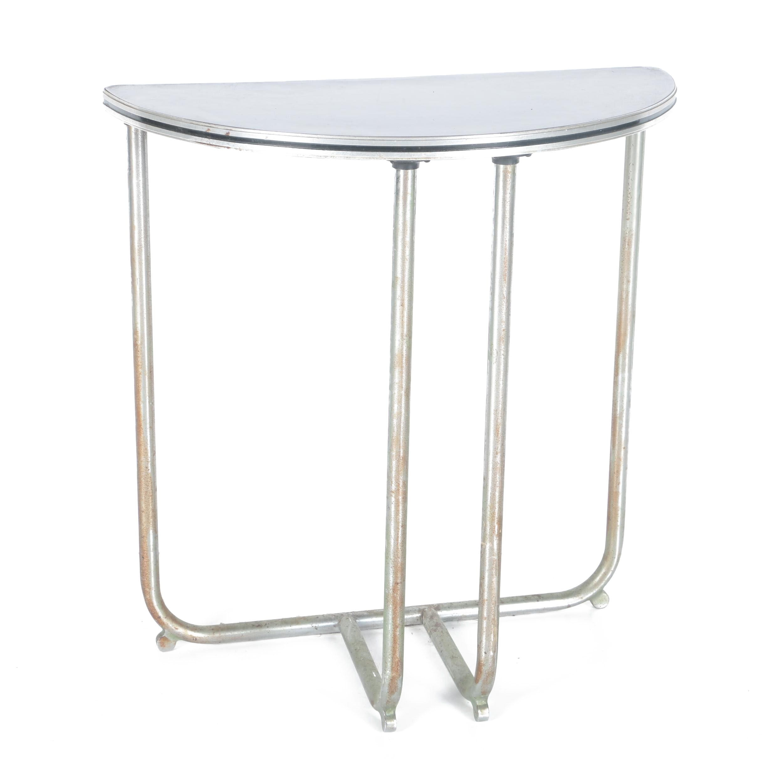 Mid Century Modern Demilune Side Table