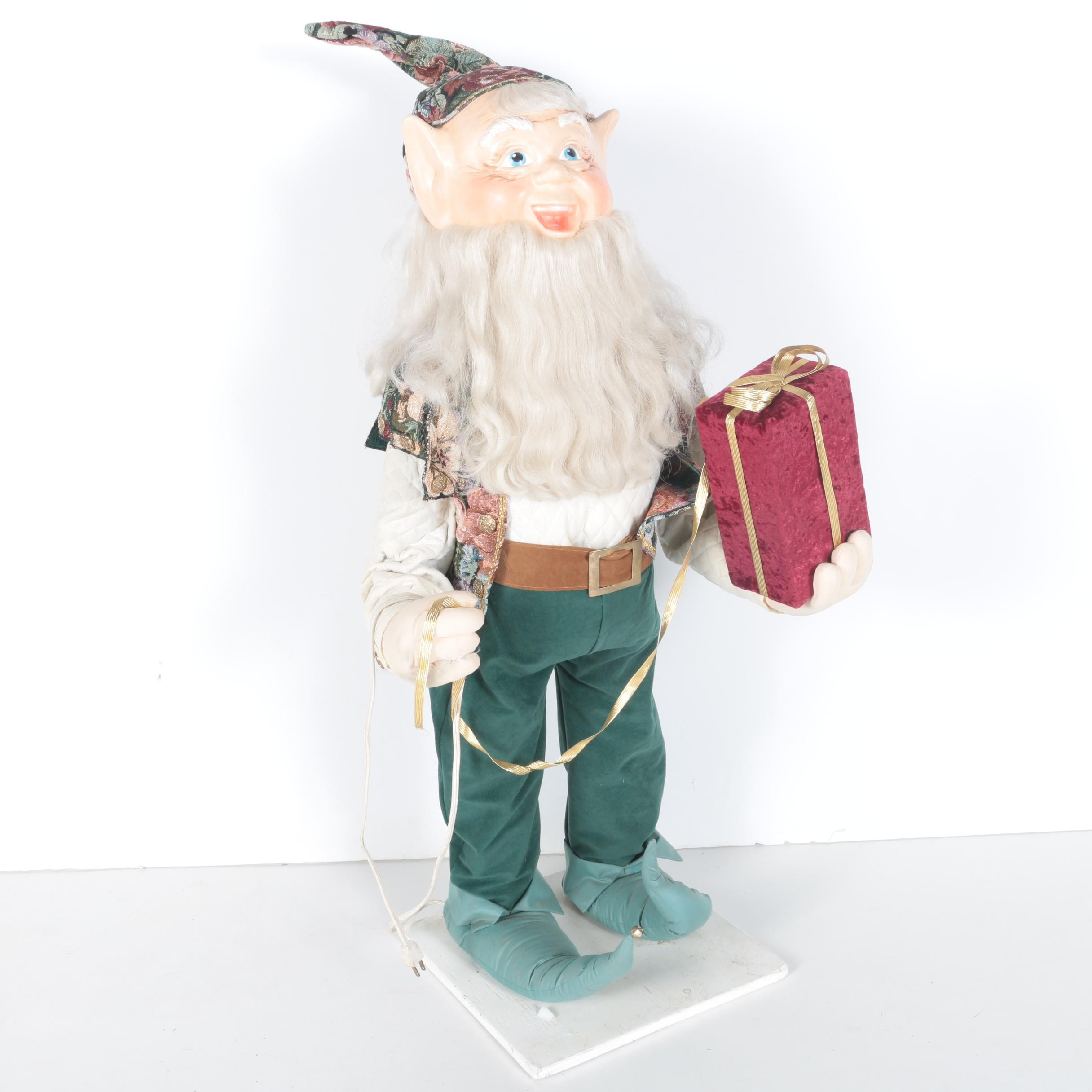 Large Animated Christmas Elf