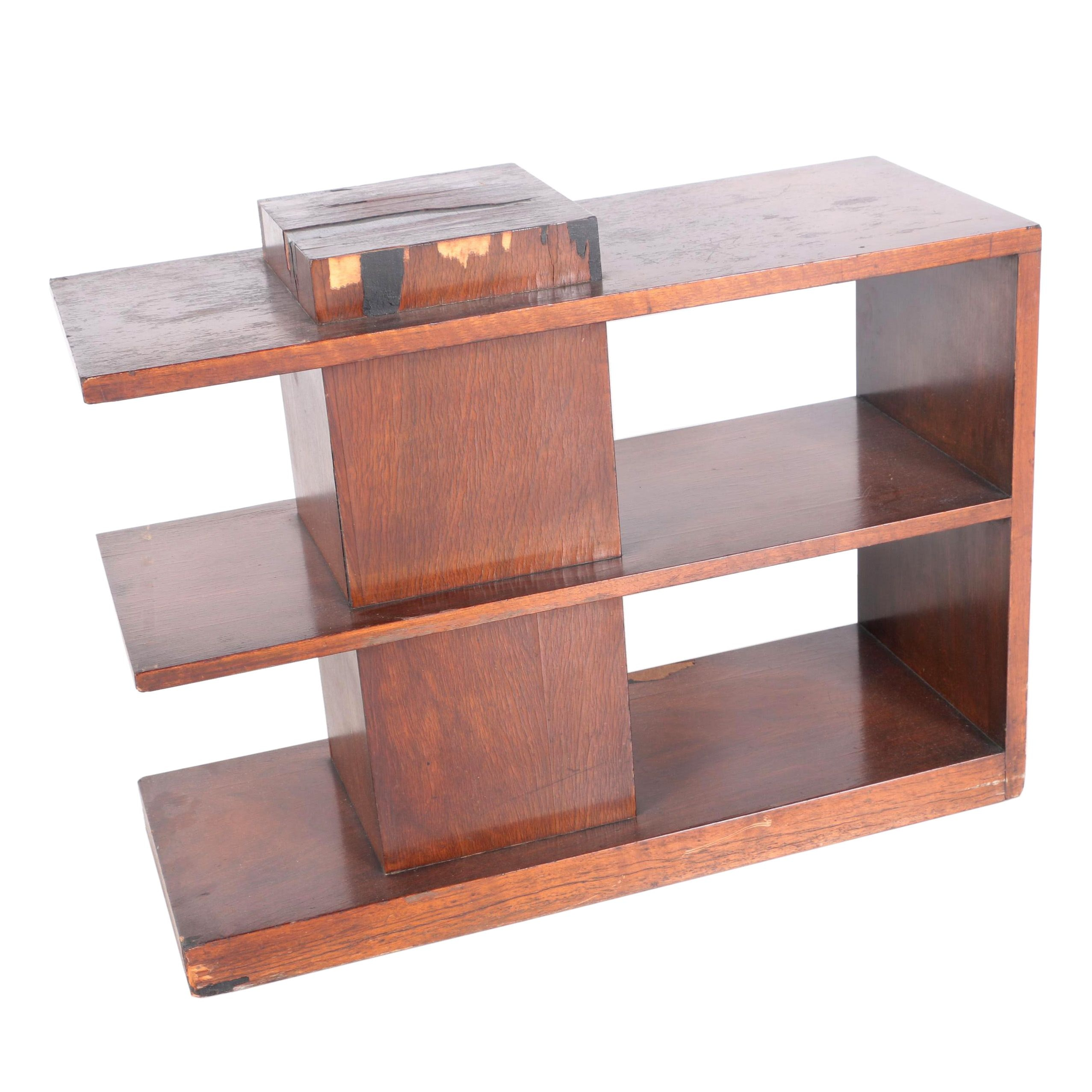 Mid Century Modern Cantilevered Side Table