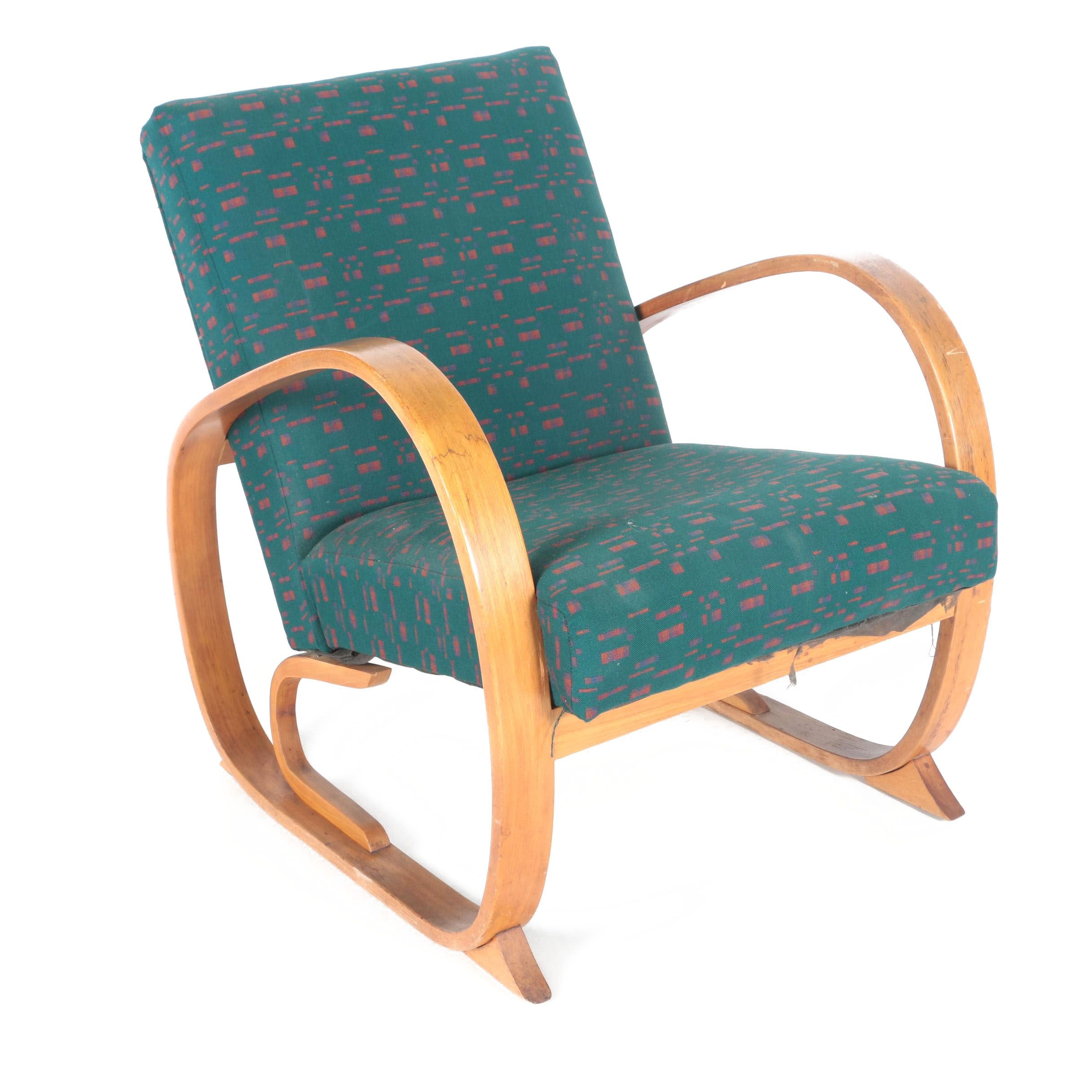 Contemporary Art Deco Style Bentwood Armchair ...