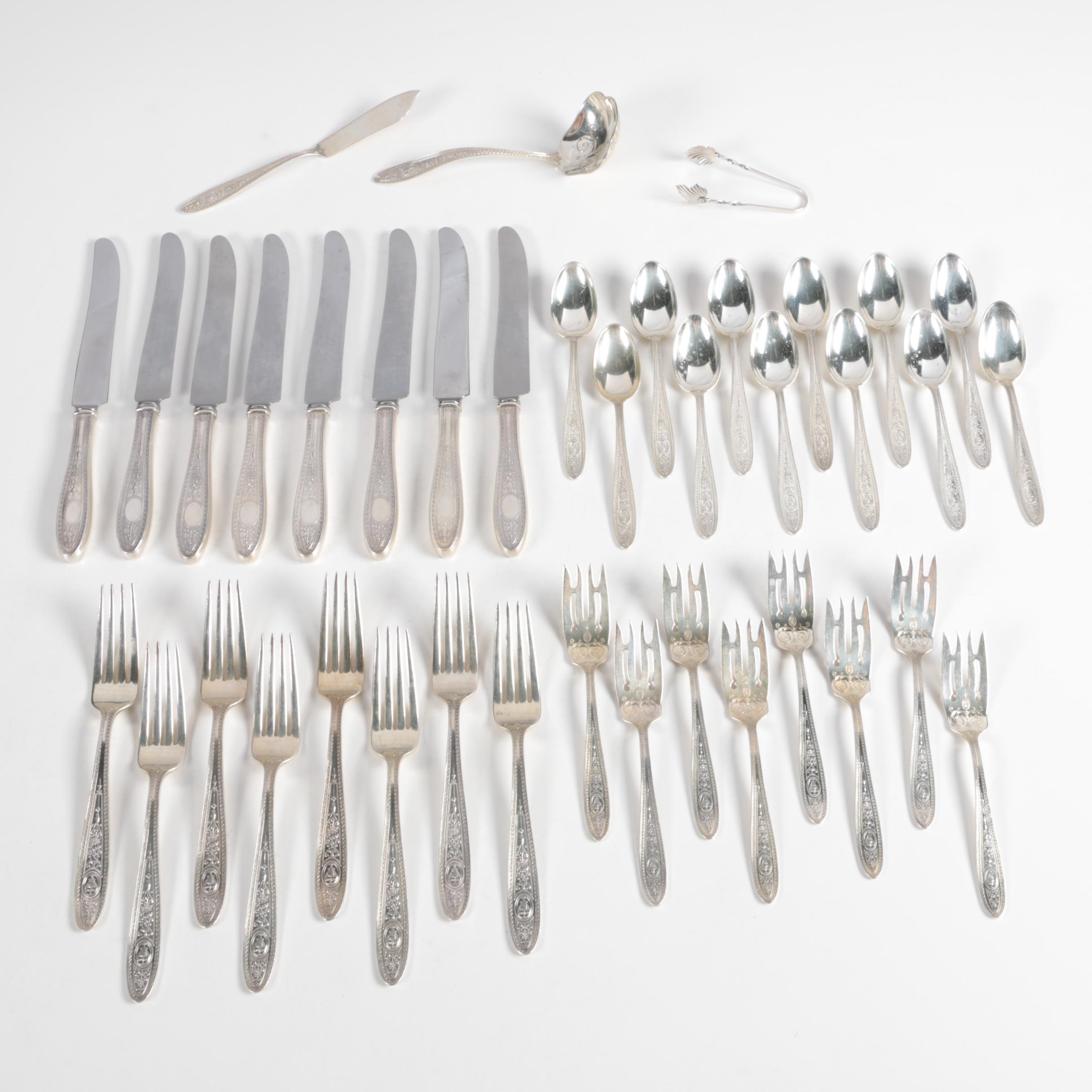 "International Silver Co. ""Wedgwood"" Sterling Silver Flatware Set"