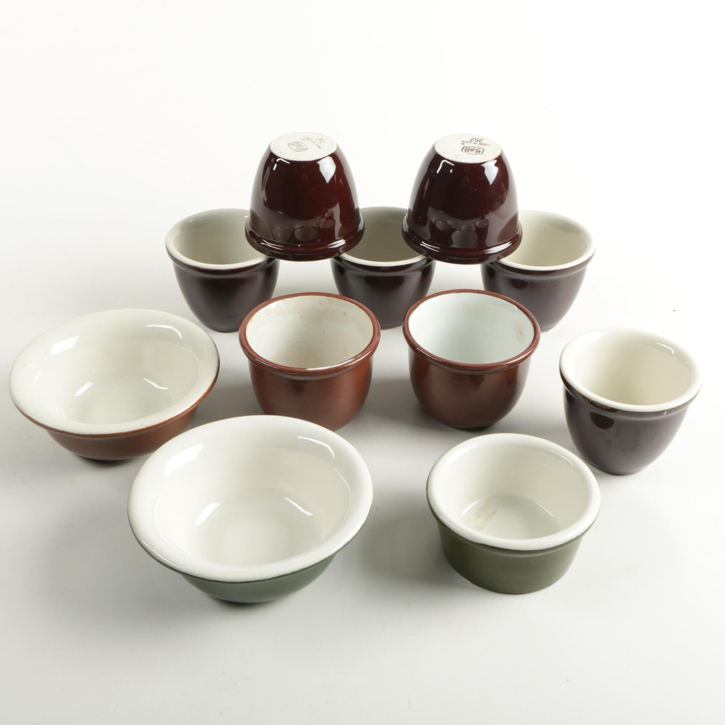 Vintage Hall and Weller Pottery Bowls