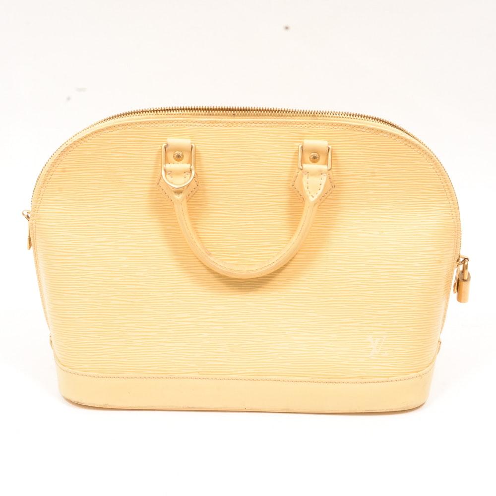 Louis Vuitton Vanilla Epi Alma MM Handbag
