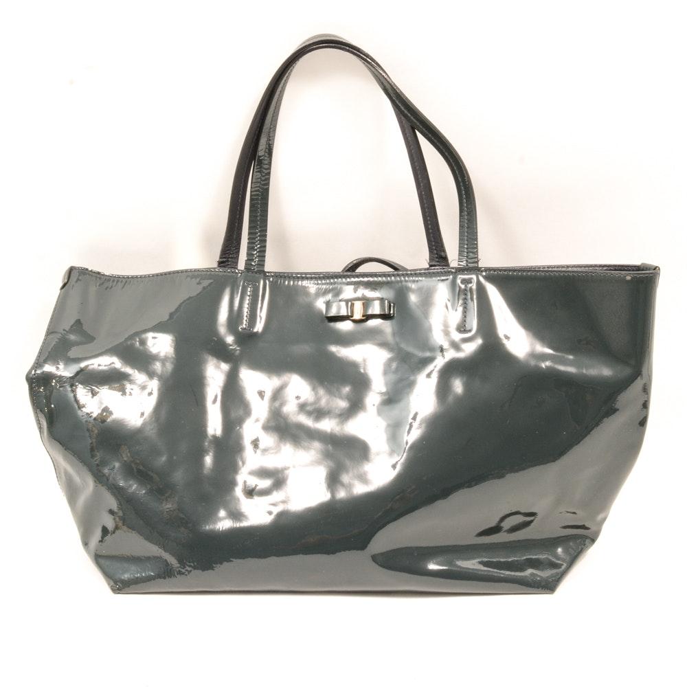 Salvatore Ferragamo Patent Tote Bag