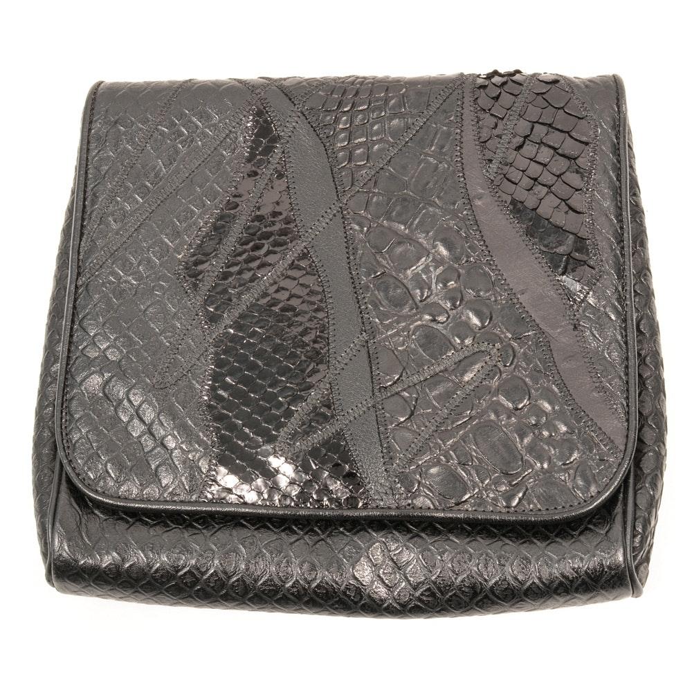 Carlos Falchi Leather Clutch