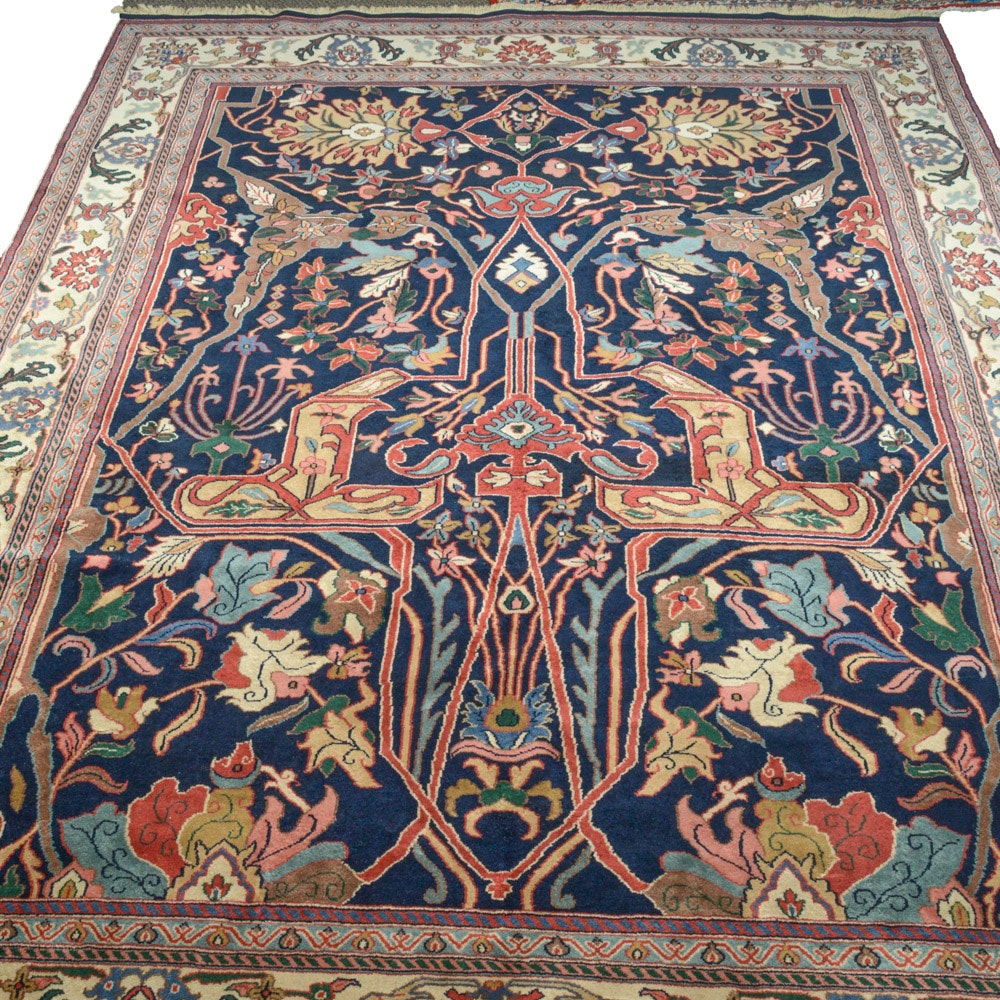 9' x 12' Fine Hand-Knotted Indo-Persian Bijar Room Size Rug