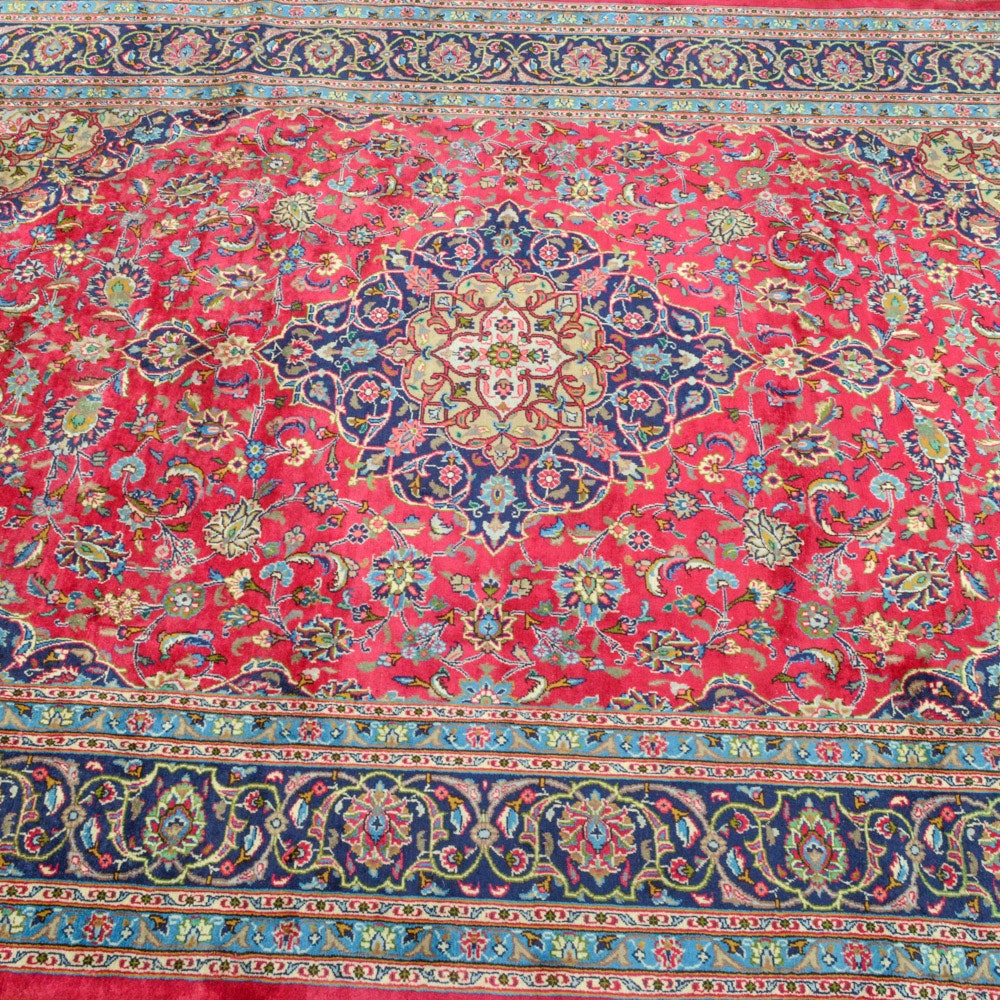8' x 11' Hand-Knotted Persian Mashhad Rug