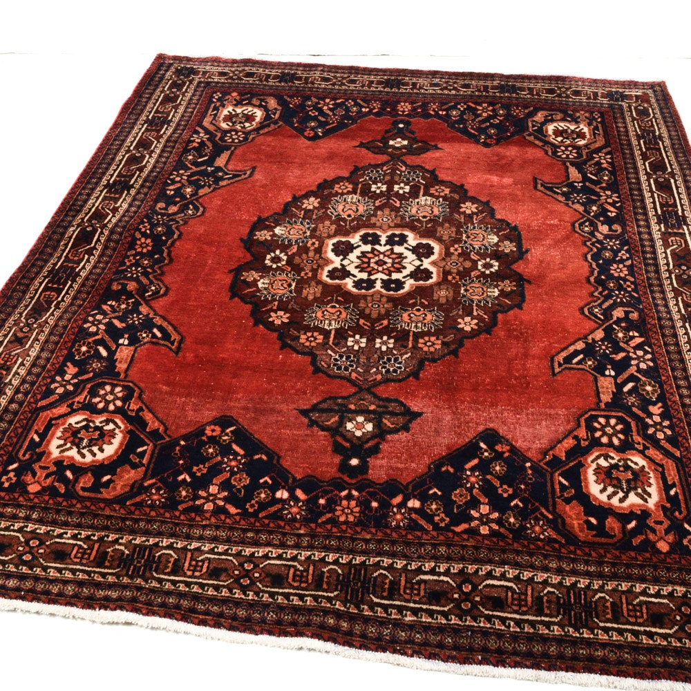 5' x 7' Antique Hand-Knotted Persian Afshar Rug