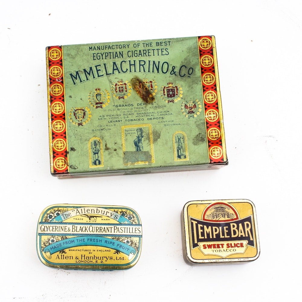 Antique and Vintage Tins With Marbles