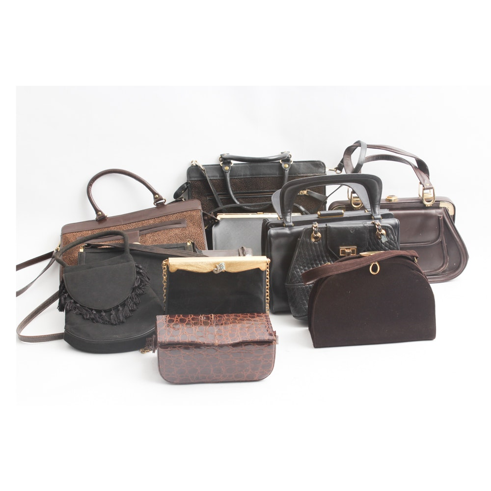 Leather and Suede Evening Bags and Handbags